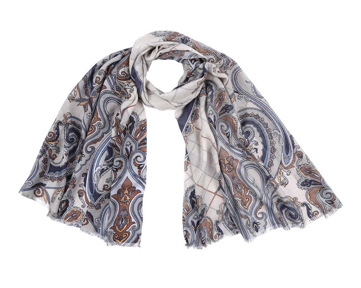 Шарф женский. YNNT0204YNNT0204-7Элегантный шарф от Leo Ventoni поможет внести живость в любой образ, подарит уют и согреет от холодного ветра. Модель изготовлена из мерсеризованной шерсти, благодаря чему полотно шарфа тонкое и теплое. Шарф украшен красивым этническим узором. Края модели оформлены бахромой. Этот модный аксессуар женского гардероба гармонично дополнит образ современной женщины, следящей за своим имиджем и стремящейся всегда оставаться стильной и элегантной.