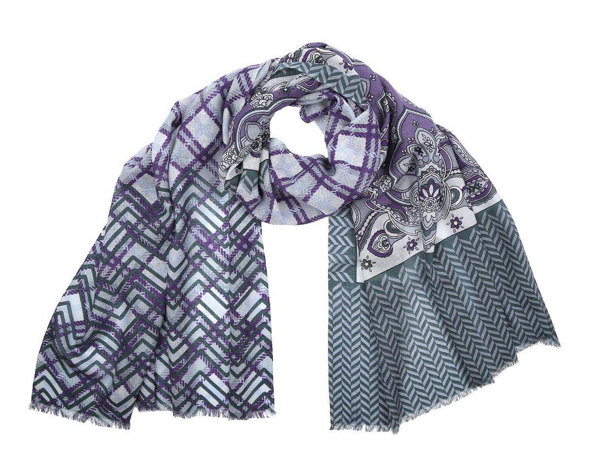ШарфYNNT0213-32Модный женский шарф Fabretti подарит вам уют и станет стильным аксессуаром, который призван подчеркнуть вашу индивидуальность и женственность. Шарф выполнен из 100% мерсеризованной шерсти, оформлен красочным этническим узором в индийском стиле, а также дополнен тонкой бахромой по краям. Этот модный аксессуар гармонично дополнит образ современной женщины, следящей за своим имиджем и стремящейся всегда оставаться стильной и элегантной. Такой шарф украсит любой наряд и согреет вас в непогоду, с ним вы всегда будете выглядеть изысканно и оригинально.