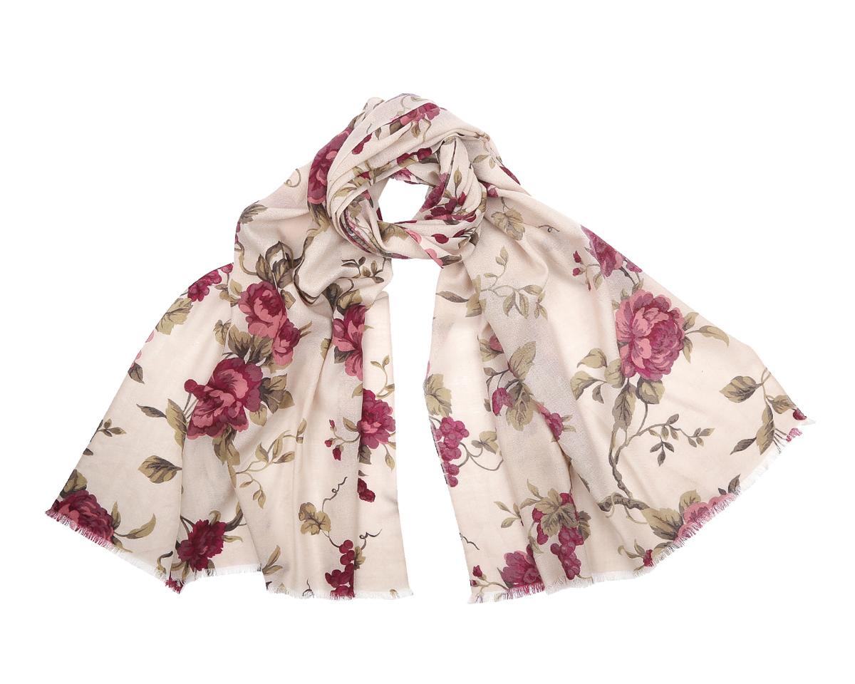 ШарфYNNT0305-9Элегантный шарф от Fabretti поможет внести живость в любой образ, подарит уют и согреет от холодного ветра. Модель изготовлена из мерсеризованной шерсти, благодаря чему полотно шарфа тонкое и теплое. Шарф украшен цветочным принтом. Края модели декорированы бахромой. Этот модный аксессуар женского гардероба гармонично дополнит образ современной женщины, следящей за своим имиджем и стремящейся всегда оставаться стильной и элегантной.
