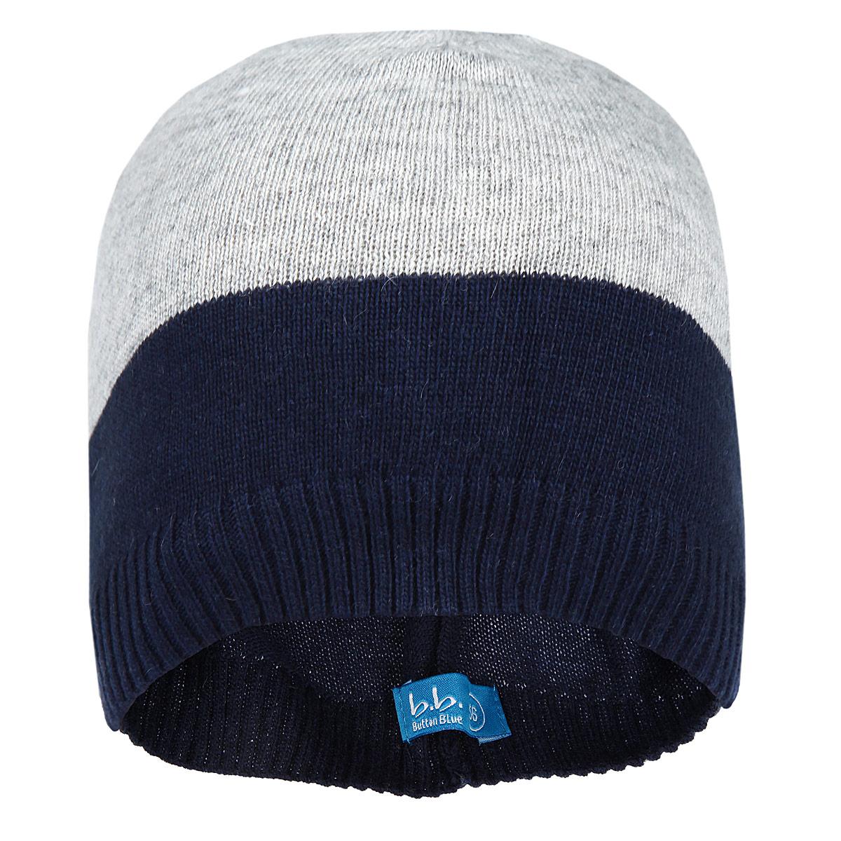 Шапка215BBBB7303Тонкая вязаная шапка для мальчика Button Blue идеально подойдет для прогулок в прохладное время года. Изготовленная из сложного состава пряжи, она обладает хорошими дышащими свойствами и хорошо удерживает тепло. Шапка оформлена цветными вязаными полосками. Понизу проходит широкая вязаная резинка. Такая шапка станет модным и стильным предметом детского гардероба. Уважаемые клиенты! Размер, доступный для заказа, является обхватом головы ребенка.