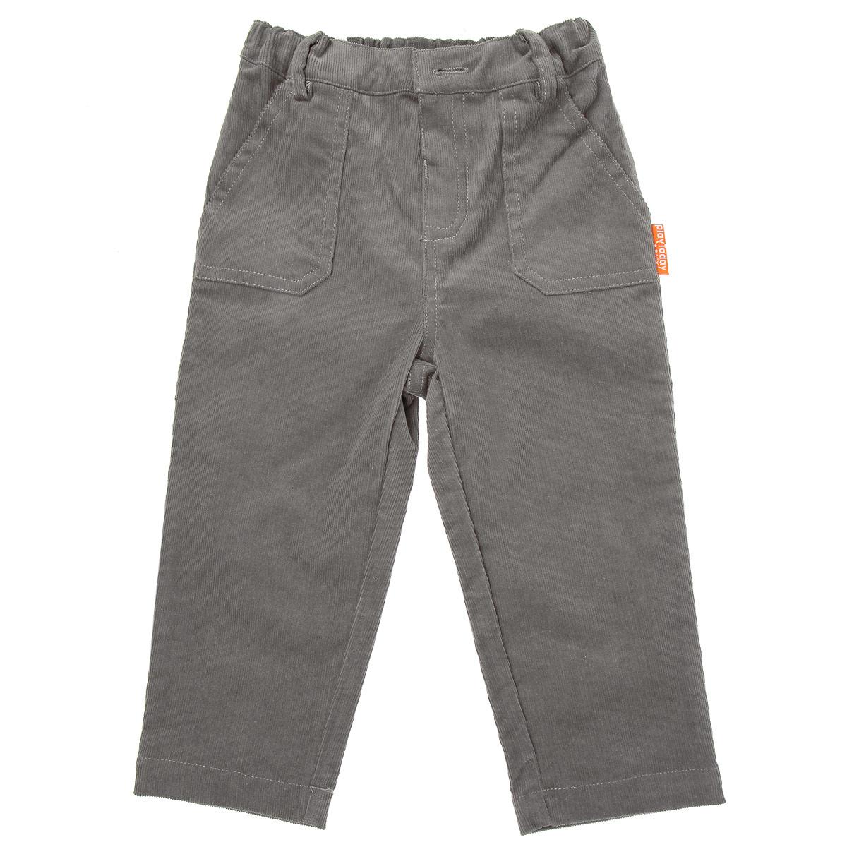 Брюки357010Удобные вельветовые брюки для мальчика PlayToday Baby идеально подойдут вашему малышу и станут отличным дополнением к детскому гардеробу. Изготовленные из эластичного хлопка, они необычайно мягкие и приятные на ощупь, не сковывают движения малыша и позволяют коже дышать, не раздражают нежную кожу ребенка, обеспечивая ему наибольший комфорт. Брюки прямого покроя на талии застегиваются на пуговицу и имеют имитацию ширинки, также имеются шлевки для ремня. С внутренней стороны пояс регулируется резинкой на пуговицах. Спереди изделие дополнено двумя накладными кармашками. Модель оформлена небольшой нашивкой с названием бренда. В таких брюках ваш маленький модник будет чувствовать себя комфортно, уютно и всегда будет в центре внимания!