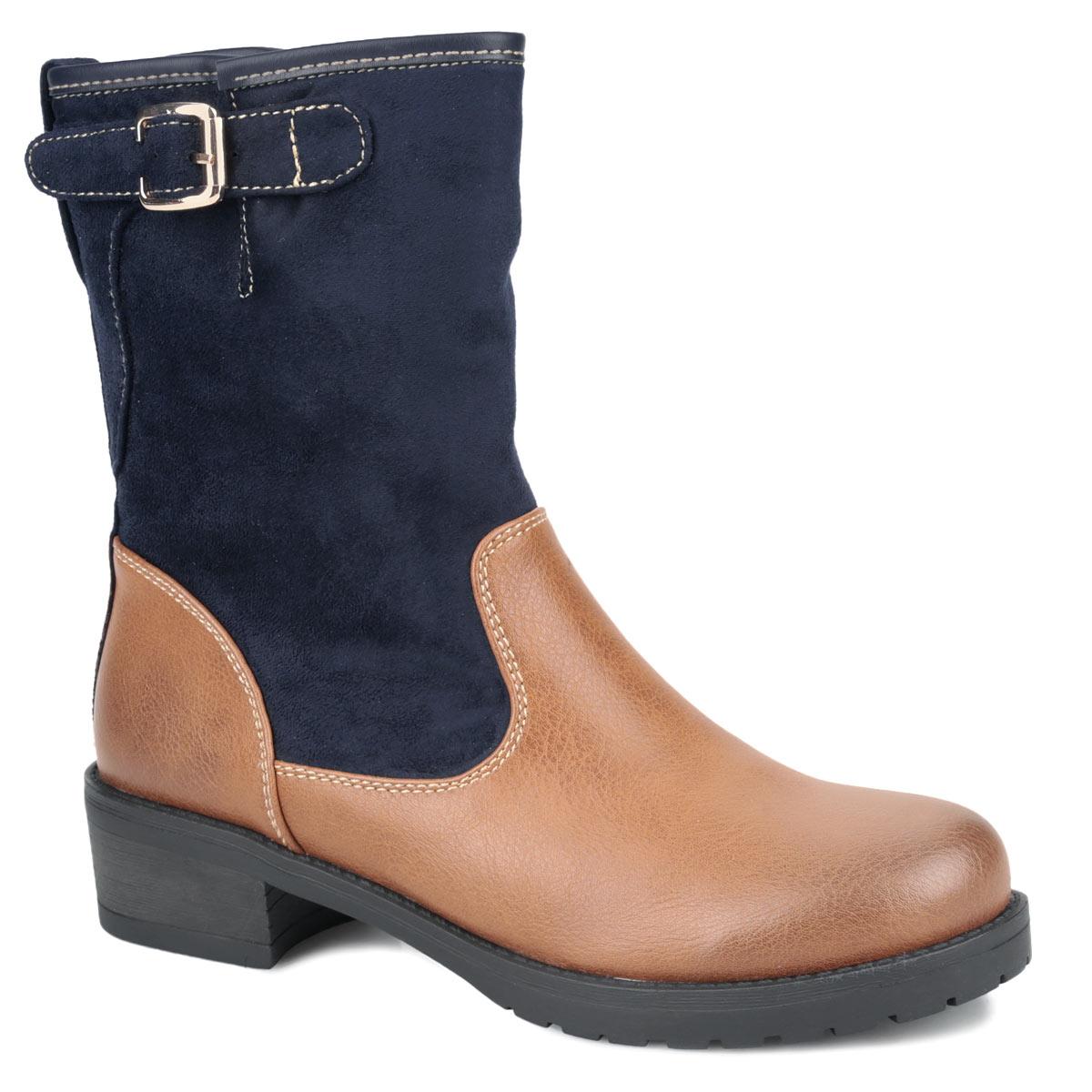 42-HX-01 SXОригинальные женские ботинки от Wilmar заинтересуют вас своим дизайном. Модель выполнена из искусственной кожи и искусственного велюра. Сбоку изделие оформлено вырезом и украшено декоративной пряжкой. Ботинки застегивается на боковую застежку-молнию. Подкладка и стелька из байки согреют ваши ноги в холодную погоду. Каблук умеренной высоты обеспечит модели устойчивость. Подошва с рифлением защищают изделие от скольжения. Эффектные ботинки подчеркнут ваш стиль и яркую индивидуальность. В них вы всегда будете чувствовать себя уютно и комфортно!