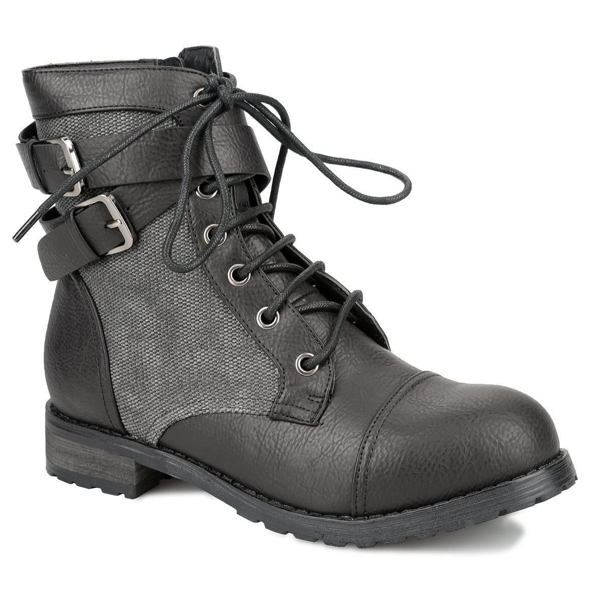 Ботинки женские. YA3-036-05 AXYA3-036-05 AXТрендовые ботинки от Yaro покорят вас своим дизайном с первого взгляда! Модель выполнена из искусственной кожи и оформлена крупной вставкой из текстиля. Подъем дополнен перекрещивающимися ремешками с металлическими пряжками. Прочная шнуровка надежно зафиксирует модель на вашей ноге. Ботинки застегиваются при помощи застежки-молнии, расположенной на одной из боковых сторон. Подкладка и стелька из байки согреют ваши ноги в холодную погоду. Умеренной высоты каблук стилизован под дерево. Рифленая поверхность каблука и подошвы гарантирует отличное сцепление с любыми поверхностями. В таких ботинках вы всегда будете чувствовать себя уютно и комфортно. Они подчеркнут ваш стиль и индивидуальность!