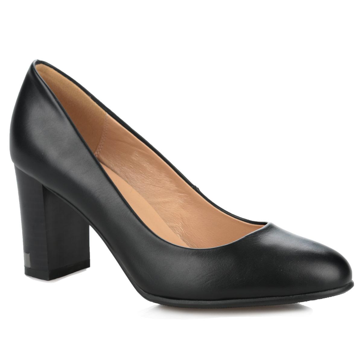 60266-01-1KМодные туфли от Inario покорят вас с первого взгляда! Модель выполнена из искусственной кожи и исполнена в лаконичном стиле. Округлый мыс смотрится невероятно женственно. Умеренной высоты каблук, оформленный металлической вставкой, устойчив. Подошва и каблук оснащены противоскользящим рифлением. Прелестные туфли займут достойное место среди вашей коллекции обуви.
