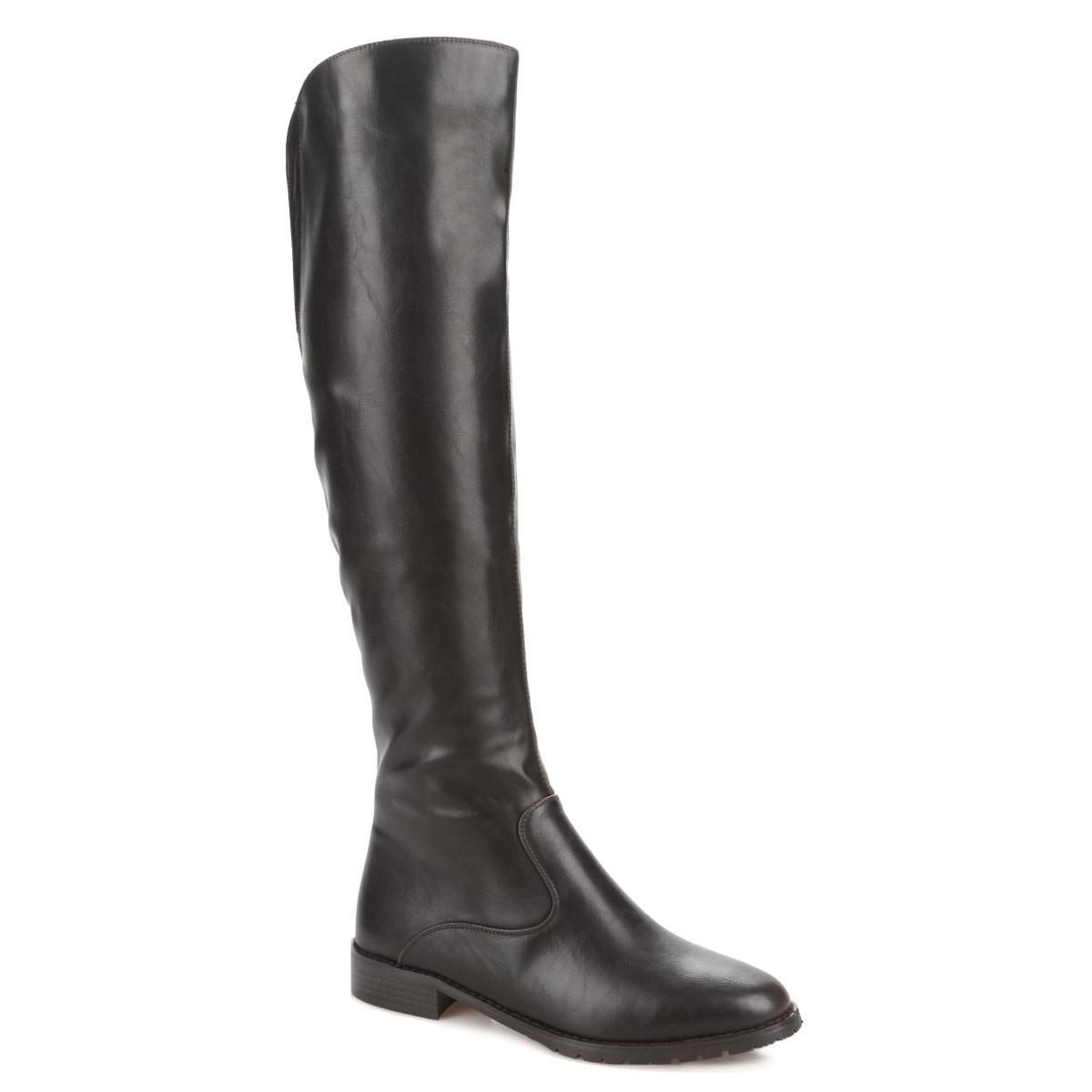 5429-01-18BКлассические сапоги от Inario займут достойное место среди вашей коллекции обуви! Модель изготовлена из мягкой искусственной кожи и оформлена вдоль ранта крупной прострочкой. Сапоги застегиваются на боковую застежку-молнию. Резинка, расположенная на задней поверхности голенища, гарантирует оптимальную посадку обуви на ноге. Мягкая подкладка и стелька из байки сохраняют тепло, обеспечивая максимальный комфорт при движении. Невысокий каблук устойчив. Подошва - с противоскользящим рифлением. Эффектные сапоги выделят вас среди окружающих!