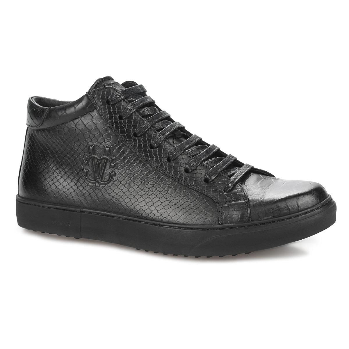 Ботинки мужские. M23138M23138Модные мужские ботинки от Vitacci покорят вас своим удобством. Модель выполнена из натуральной кожи с тиснением под рептилию. Сбоку изделие дополнено конгревным тиснением. Ботинки застегиваются при помощи застежки-молнии, расположенной на одной из боковых сторон. Шнуровка позволяет надежно фиксировать модель на ноге. Стелька, выполненная из ворсина, обеспечивает комфорт при ходьбе. Утолщенная подошва дополнена противоскользящим рифлением. Стильные ботинки прекрасно впишутся в ваш гардероб.