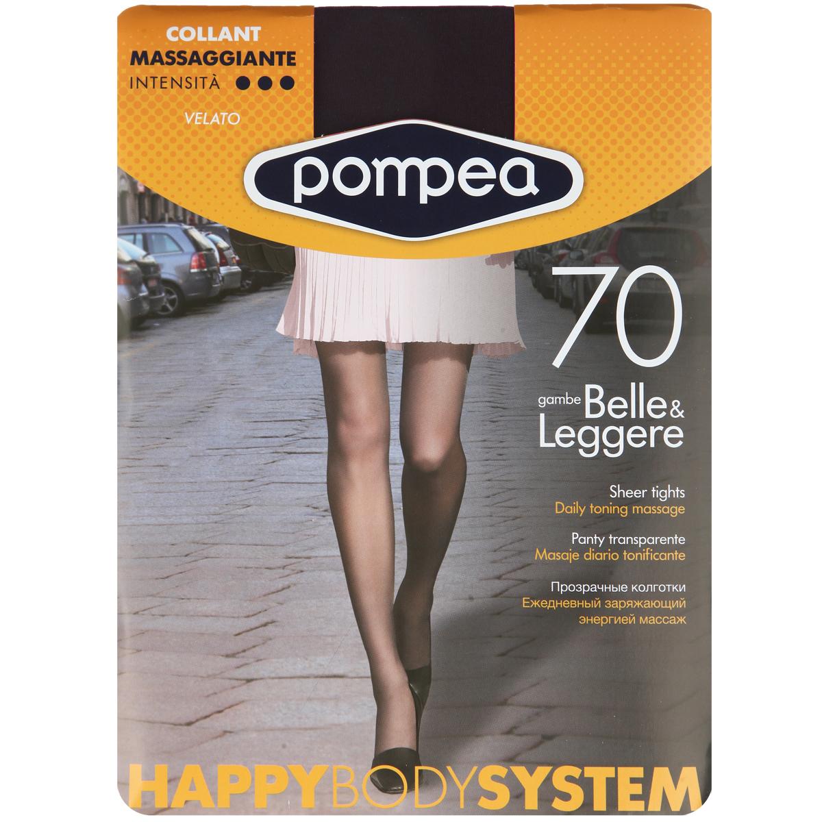 Колготки женские Pompea Happy Body System. 9076929090769290 CacaoМатовые эластичные колготки Pompea Happy Body System на каждый день, с распределенным средним давлением, укрепленными трусиками, ластовицей и прозрачным мыском. Плотность: 70 den.