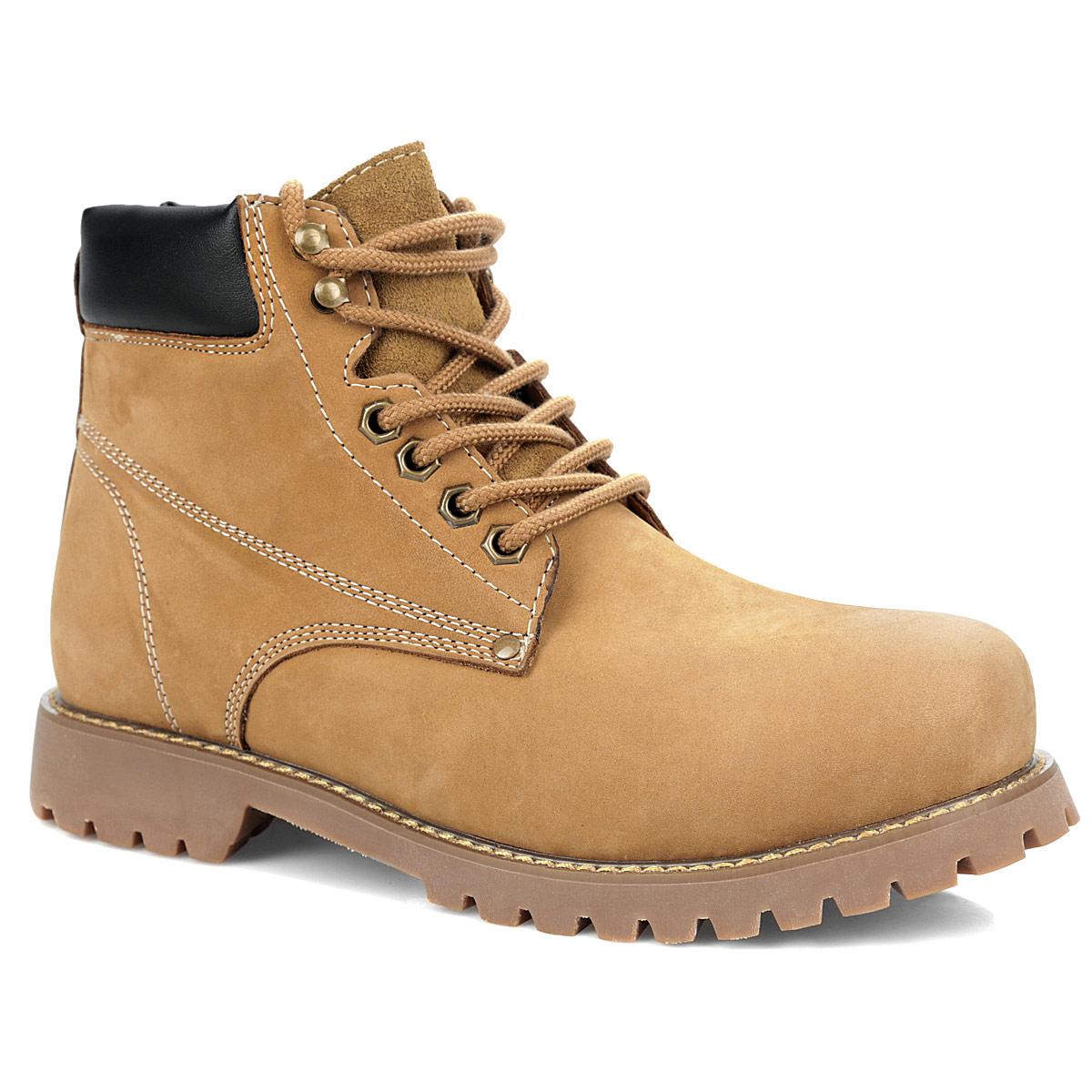 Ботинки мужские. 25SS_GS-CK-08625SS_GS-CK-086Стильные мужские ботинки от Spur - отличный вариант на каждый день. Модель выполнена из натурального нубука со вставкой из натуральной кожи на голенище. Обувь оформлена крупной прострочкой вдоль ранта, задним наружным ремнем. Шнуровка прочно зафиксирует обувь. Ярлычок на заднике облегчает надевание обуви. Подкладка и стелька из шерсти подарят вашим ногам тепло и уют. Каблук и подошва с протектором гарантируют идеальное сцепление с любыми поверхностями. В таких ботинках вашим ногам будет комфортно и уютно. Они подчеркнут ваш стиль и индивидуальность.