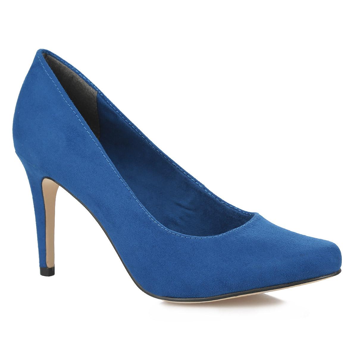 Туфли женские. 1-1-22411-25-8381-22411-25-562Элегантные женские туфли от Tamaris займут достойное место в вашем гардеробе. Модель выполнена из качественного текстиля и исполнена в лаконичном стиле. Слегка зауженный носок добавит женственности в образ. Стелька из натуральной кожи позволит ногам дышать. Высокий каблук устойчив. Изысканные туфли добавят шика в модный образ и подчеркнут ваш безупречный вкус.