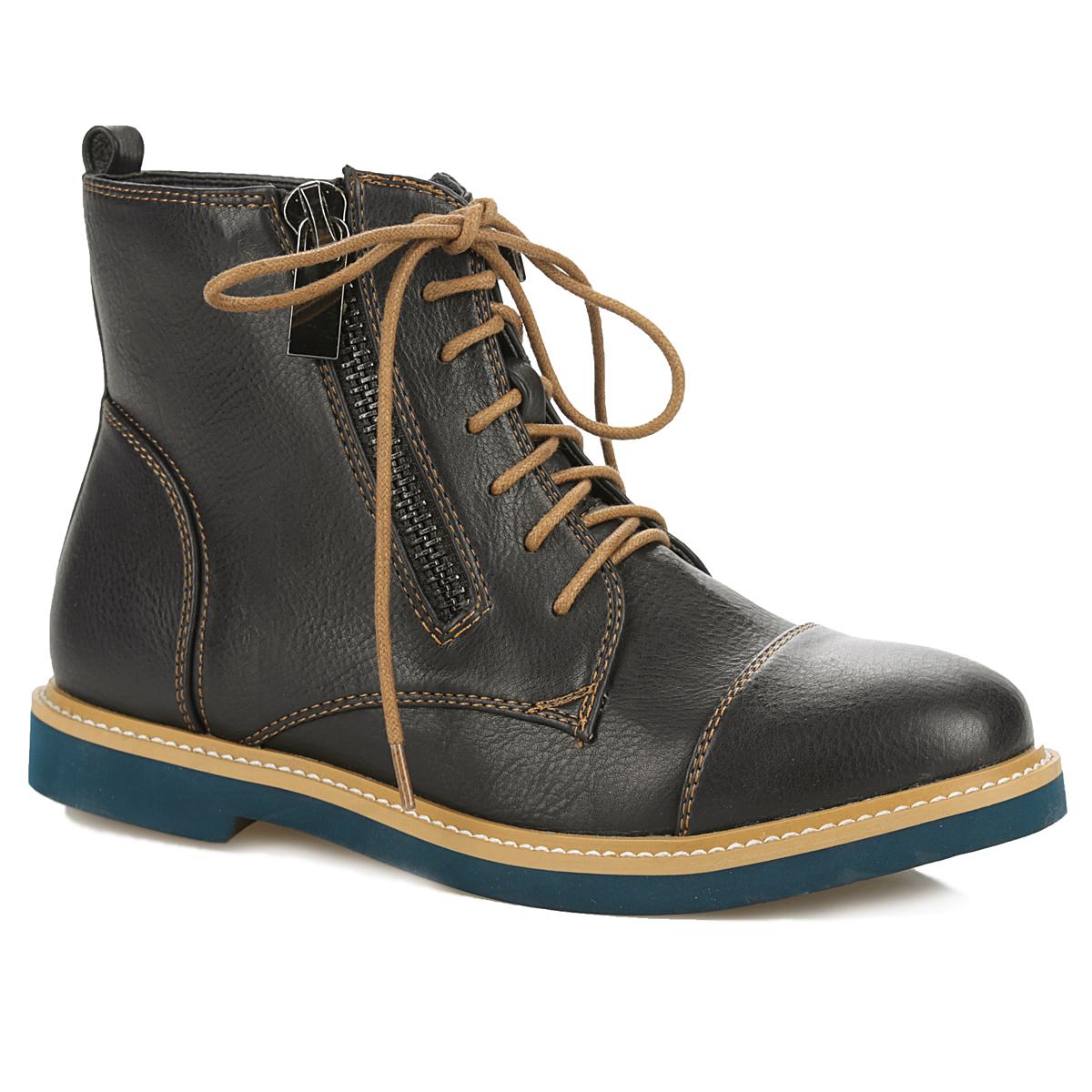 Ботинки женские. 958019/05958019/05-02Оригинальные женские ботинки от Betsy заинтересуют вас своим дизайном. Модель выполнена из искусственной кожи. Подкладка и стелька - из текстиля, обеспечивают максимальный комфорт при движении. Верх изделия оформлен шнуровкой, которая прочно зафиксирует модель на вашей ноге, а так же двумя металлическими молниями, с помощью которых можно регулировать объем голенища. Задник декорирован наружным ремнем и ярлычком. Подошва из полимера с рельефным протектором обеспечивает отличное сцепление на любой поверхности. В этих ботинках вашим ногам будет комфортно и уютно. Они подчеркнут ваш стиль и индивидуальность