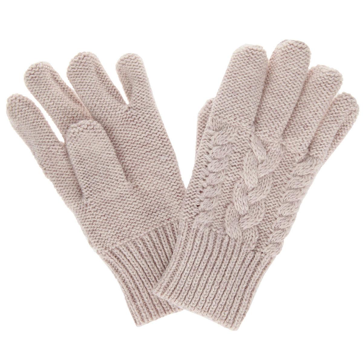 Перчатки для девочки. GL-643/045I-5302GL-643/045I-5302Вязаные перчатки для девочки Sela идеально подойдут вашей малышке для прогулок в прохладное время года. Изготовленные из высококачественной пряжи, они необычайно мягкие и приятные на ощупь, не сковывают движения и позволяют коже дышать, не раздражают нежную кожу ребенка, обеспечивая ему наибольший комфорт, хорошо сохраняют тепло. Перчатки дополнены широкими эластичными манжетами, не стягивающими запястья и надежно фиксирующими их на ручках ребенка. Манжеты связаны резинкой. Оформлены перчатки фактурной вязкой косичка. Оригинальный дизайн и расцветка делают эти перчатки модным и стильным предметом детского гардероба. В них ваша маленькая модница будет чувствовать себя уютно и комфортно и всегда будет в центре внимания!