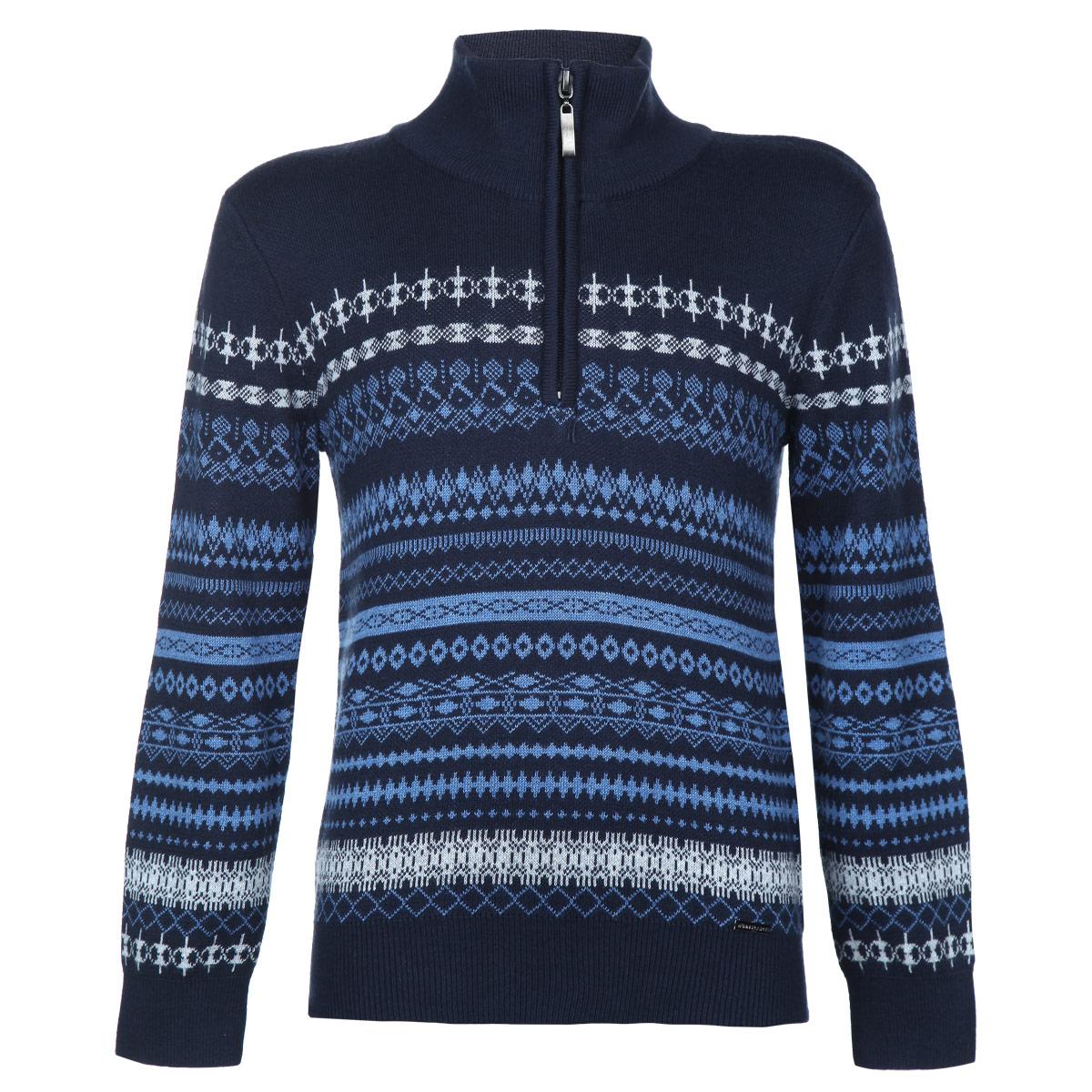 СвитерKW15-81120JВязаный свитер для мальчика Finn Flare Kids идеально подойдет вашему ребенку в более прохладное время года. Изготовленный из хлопковой пряжи с добавлением акрила, он необычайно мягкий и приятный на ощупь, не сковывает движения и позволяет коже дышать, не раздражает даже самую нежную и чувствительную кожу ребенка, обеспечивая ему наибольший комфорт. Свитер с воротником-стойкой и длинными рукавами спереди застегивается на пластиковую застежку-молнию. Ворот, манжеты и низ модели связаны мелкой резинкой. Оформлен свитер оригинальным вязаным орнаментом. Современный дизайн и расцветка делают этот свитер модным и стильным предметом детского гардероба. В нем ваш маленький модник будет чувствовать себя уютно и комфортно и всегда будет в центре внимания!
