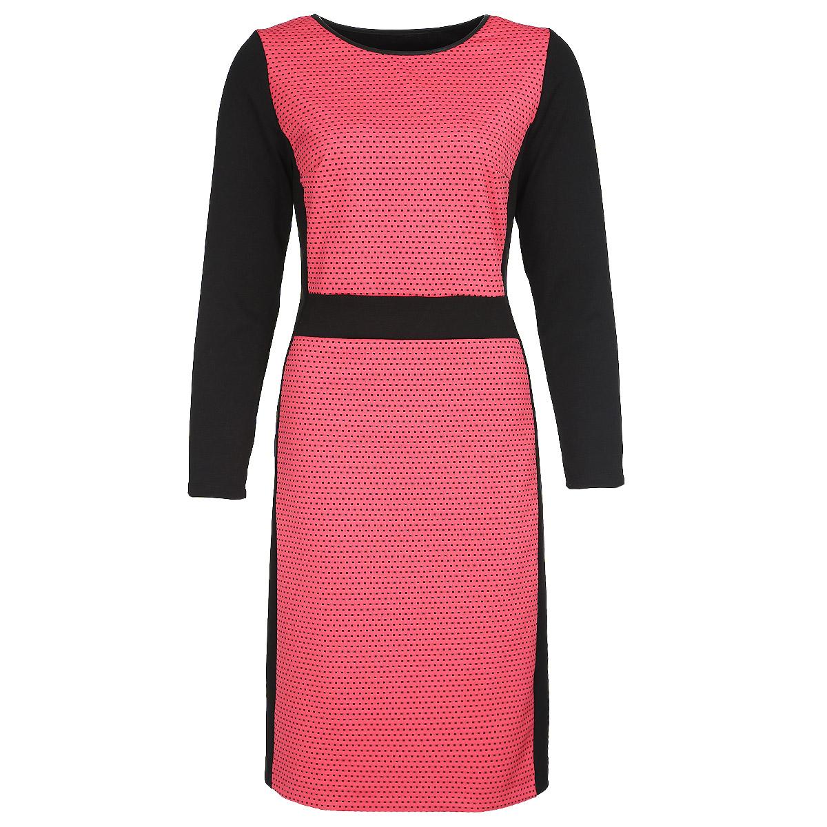 Платье. 15091509Стильное платье Milana Style, выполненное из высококачественного материала, будет отлично на вас смотреться. Модель приталенного кроя с длинными рукавами и круглым вырезом горловины подчеркнет ваш стиль. Трикотажное платье средней длины выполнено в безупречной гармоничной цветовой гамме. Идеальный вариант для тех, кто ценит комфорт и качество.