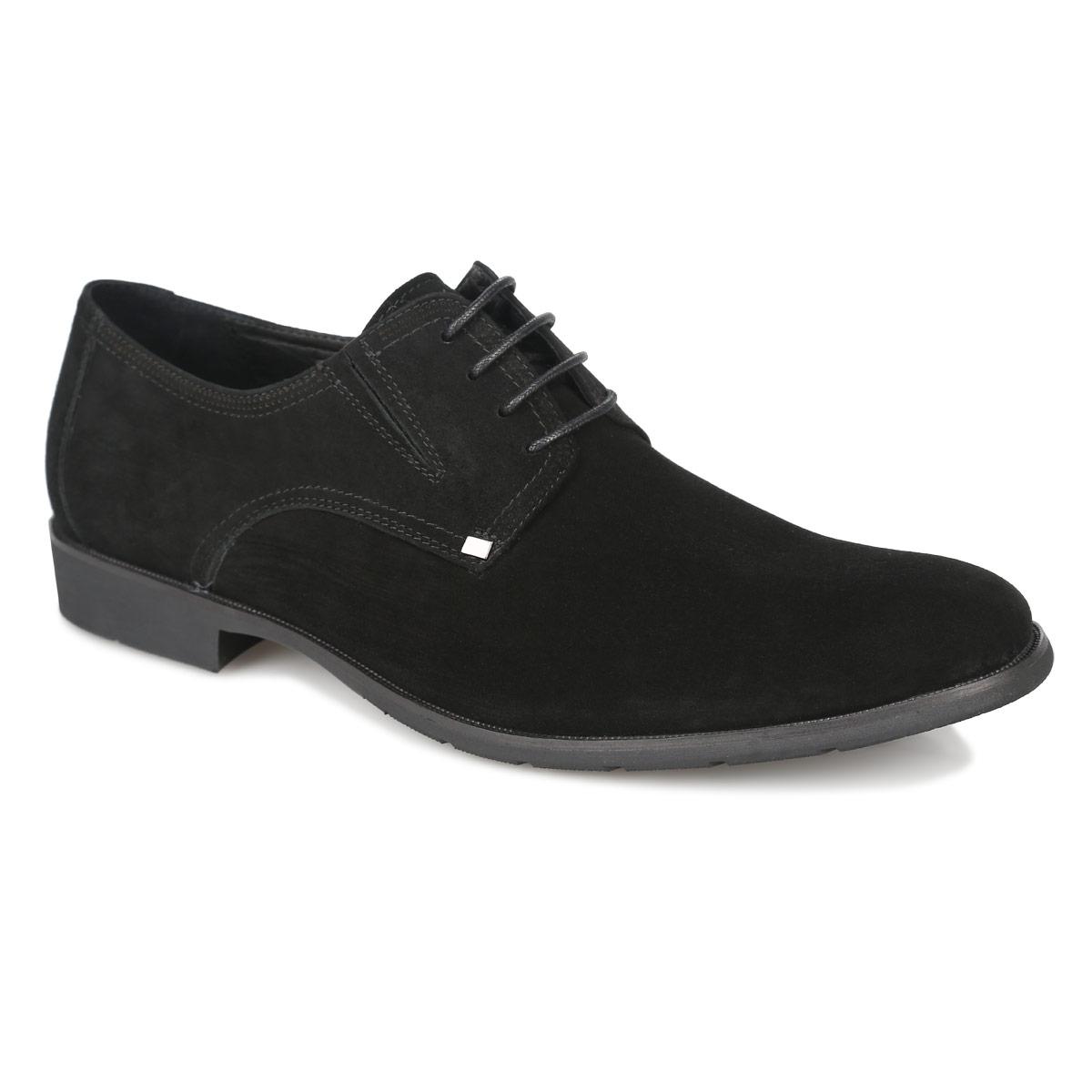 102-17-129Стильные мужские туфли от Dino Ricci не оставят вас равнодушным! Модель выполнена из велюра. Стелька, выполненная из натуральной кожи, обеспечивает комфорт при ходьбе. Шнуровка позволяет надежно фиксировать модель на ноге. Резинки обеспечивают оптимальную посадку модели на ноге. Подошва и каблук дополнены противоскользящим рифлением. Туфли в классическим стиле станут прекрасным дополнением вашего образа.