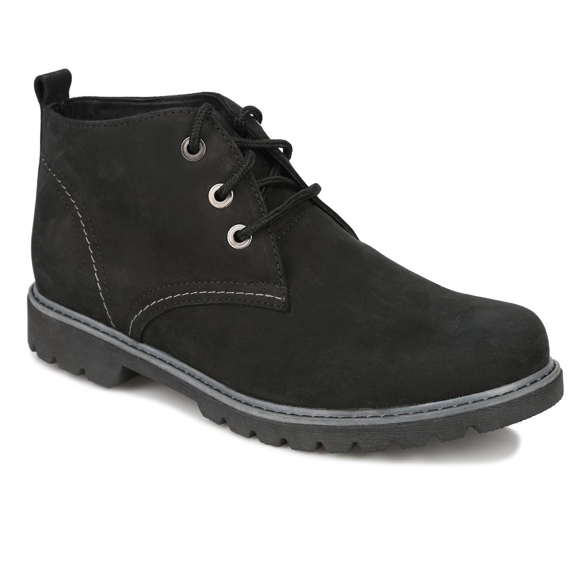 Ботинки мужские. 7SV_1-15 BLACK7SV_1-15 BLACKСтильные мужские ботинки от Spur придутся вам по душе! Модель изготовлена из высококачественной натуральной кожи. Шнуровка идеально зафиксирует обувь на вашей ноге. Подкладка и стелька из натуральной шерсти сохранят ваши ноги в тепле. Низкий каблук и подошва оснащены противоскользящим рифлением. Стильные ботинки подчеркнут вашу индивидуальность.