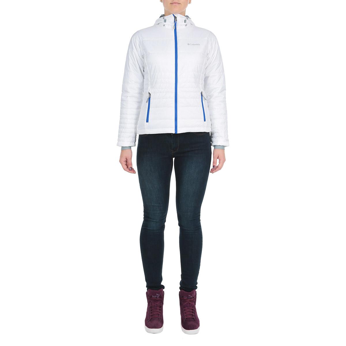 Куртка женская. WL5435-101WL5435-101Утепленная куртка Columbia Go To - прекрасный вариант для активного отдыха и путешествий. Куртка обеспечит комфорт во время коротких прогулок по городу и походов, которые подразумевают длительное нахождение на улице. Уникальная технология терморегуляции Omni-Heat Reflective позволяет отражать, а также сохранять собственное тепло человека, отводя лишнее тепло и влагу. Модель выполнена из 100% полиэстера, обработанного водоотталкивающей пропиткой, застегивается на застежку-молнию. Регулируемый капюшон с планкой и эластичные манжеты станут дополнительной защитой от ветра и холода. Для хранения небольших предметов предусмотрены два боковых и внутренний карманы на молнии. Идеальный вариант для создания комфортного и стильного образа.