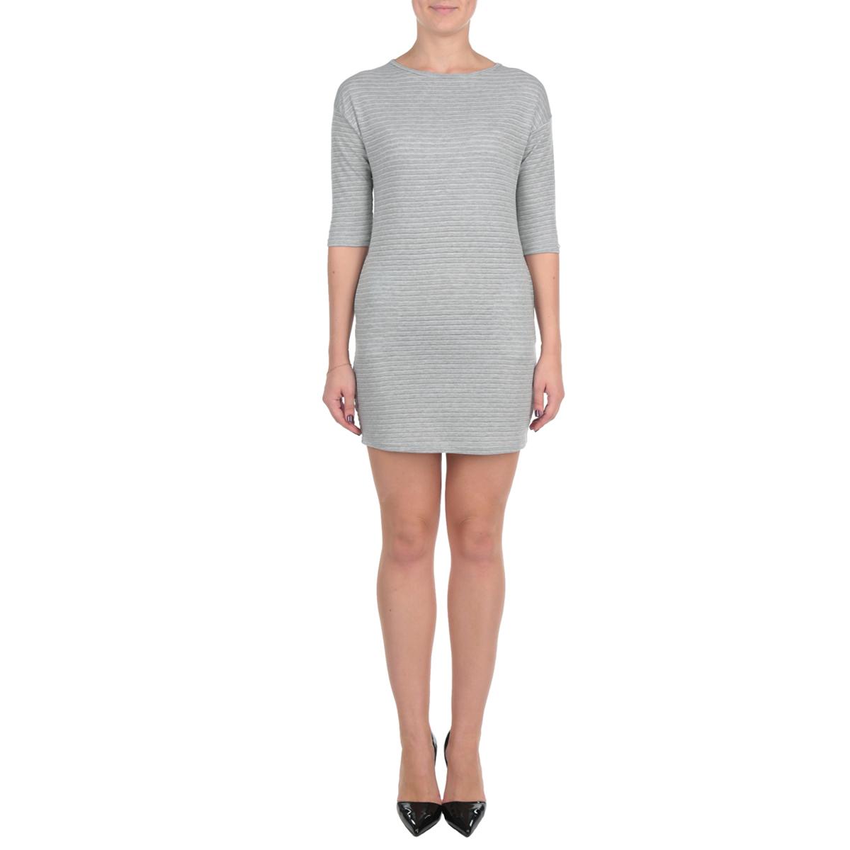 Платье. TSU0472SZTSU0472SZСтильное платье Troll, выполненное из высококачественного мягкого трикотажа, с одной стороны создает уют комфортной одежды, а с другой стороны - утонченный и женственный образ. Модель свободного кроя с рукавом 3/4 и круглым вырезом горловины. Платье по бокам дополнено двумя открытыми втачными карманами. Это модное и в тоже время комфортное платье послужит отличным дополнением к вашему гардеробу.