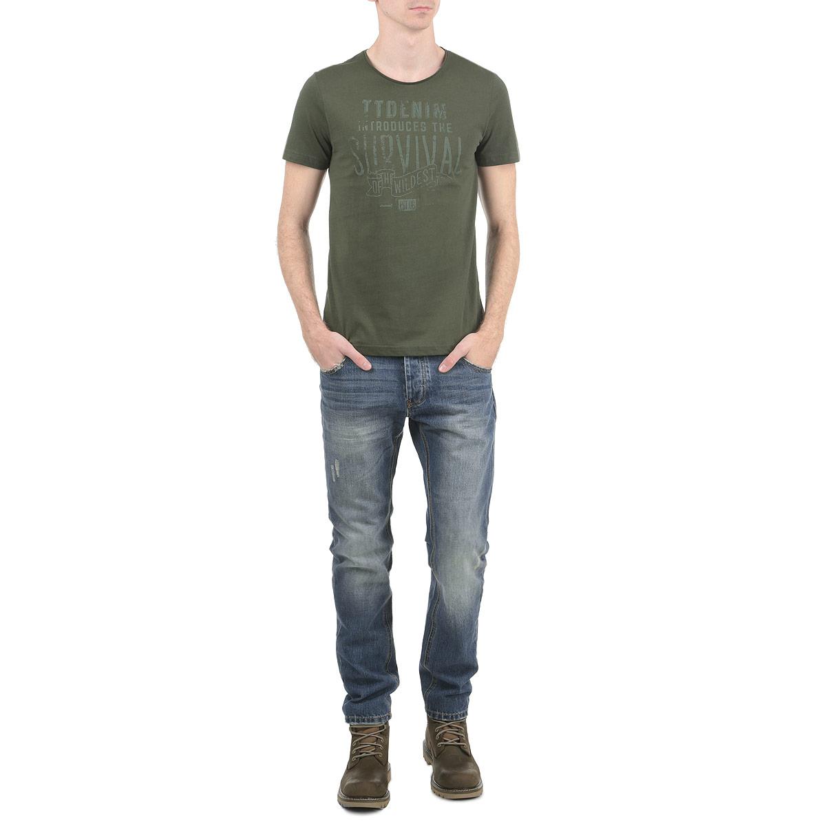 Джинсы мужские Jake. 1015306610153066_538Стильные мужские джинсы Broadway - джинсы высочайшего качества на каждый день, которые прекрасно сидят. Модель зауженного к низу кроя и средней посадки изготовлена из высококачественного материала. Изделие оформлено контрастной отстрочкой. Застегиваются джинсы на пуговицу в поясе и ширинку на молнии, имеются шлевки для ремня. Спереди модель оформлены двумя втачными карманами и одним небольшим секретным кармашком, а сзади - двумя накладными карманами. Эти модные и в тоже время комфортные джинсы послужат отличным дополнением к вашему гардеробу. В них вы всегда будете чувствовать себя уютно и комфортно.
