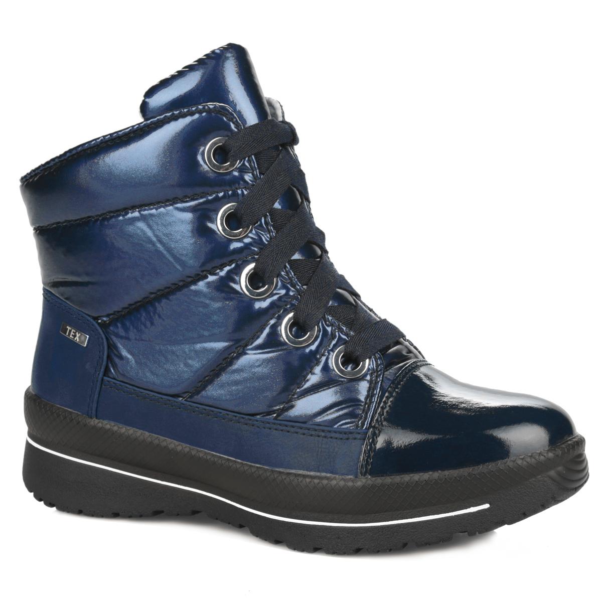 Ботинки женские. 9-26201-259-26201-25-001Стильные и удобные женские ботинки от Caprice займут достойное место среди вашей коллекции обуви. Модель выполнена из плотного стеганого текстиля со вставками из искусственных материалов. Непродуваемый и непромокаемый верх обуви защитит от непогоды. Между верхним слоем и подкладкой имеется воздухопроницаемая мембрана TEX, которая дополнительно защищает от дождя и ветра. Ботинки застегиваются на застежку-молнию, расположенную на одной из боковых сторон. Шнуровка надежно фиксирует обувь на ноге. Подкладка из шерсти согреет ваши ноги в холодную погоду. Стелька OnAir регулирует воздухообмен и гарантирует снижение давления на стопу. Подошва с протектором отвечает за идеальное сцепление на любой поверхности. В таких ботинках вашим ногам будет комфортно и уютно. Они подчеркнут ваш индивидуальный стиль.