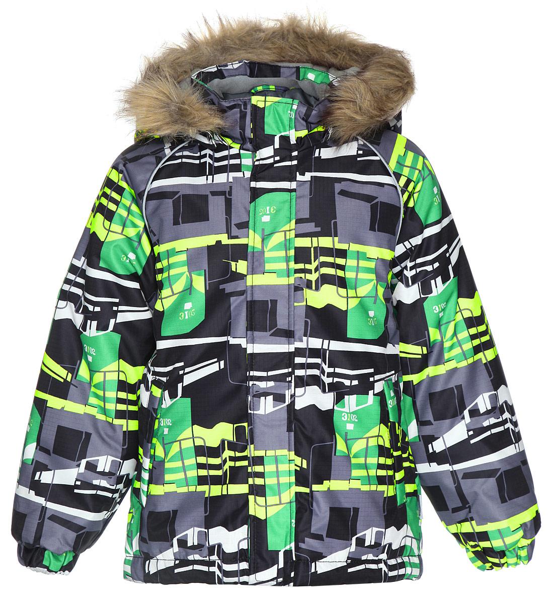 Куртка для мальчика Marinel. 1720BW00_81720BW00_876Теплая куртка для мальчика Huppa Marinel идеально подойдет для ребенка в холодное время года. Курточка изготовлена из водоотталкивающей и ветрозащитной ткани с утеплителем из HuppaTherm - 100% полиэстера. HuppaTherm - высокотехнологичный легкий синтетический утеплитель нового поколения. Уникальная структура микроволокон не позволяет проникнуть холодному воздуху, в то же время, удерживая теплый воздух между волокнами, обеспечивая высокую теплоизоляцию изделия. Полиуретан с микропорами препятствует прохождению воды и ветра сквозь ткань внутрь изделия, в то же время, позволяя испаряться выделяемой телом влаге. Для максимальной влагонепроницаемости изделия основные швы проклеены водостойкой лентой. Сплетения волокон в тканях выполнены по специальной технологии, которая придает ткани прочность и предохраняет от истирания. В качестве подкладки используется 100% полиэстер. Куртка с капюшоном и рукавами-реглан застегивается на пластиковую застежку-молнию и дополнительно имеет внутреннюю...