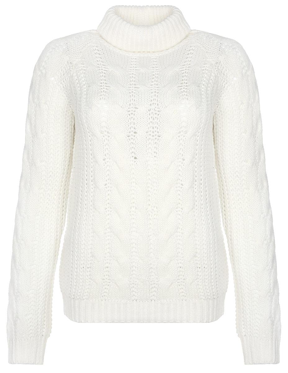 Свитер женский. Z-SW-1820Z-SW-1820 NAVYЖенский вязаный свитер Moodo, выполненный из 100%-го акрила, необычайно мягкий и приятный на ощупь, не сковывает движения, обеспечивая наибольший комфорт. Свитер с высоким воротником и длинными рукавами идеально гармонирует с любыми предметами одежды и будет уместен и на отдых, и на работу. Низ и манжеты изделия связаны резинкой. Мягкий и уютный свитер станет любимым элементом вашего гардероба.
