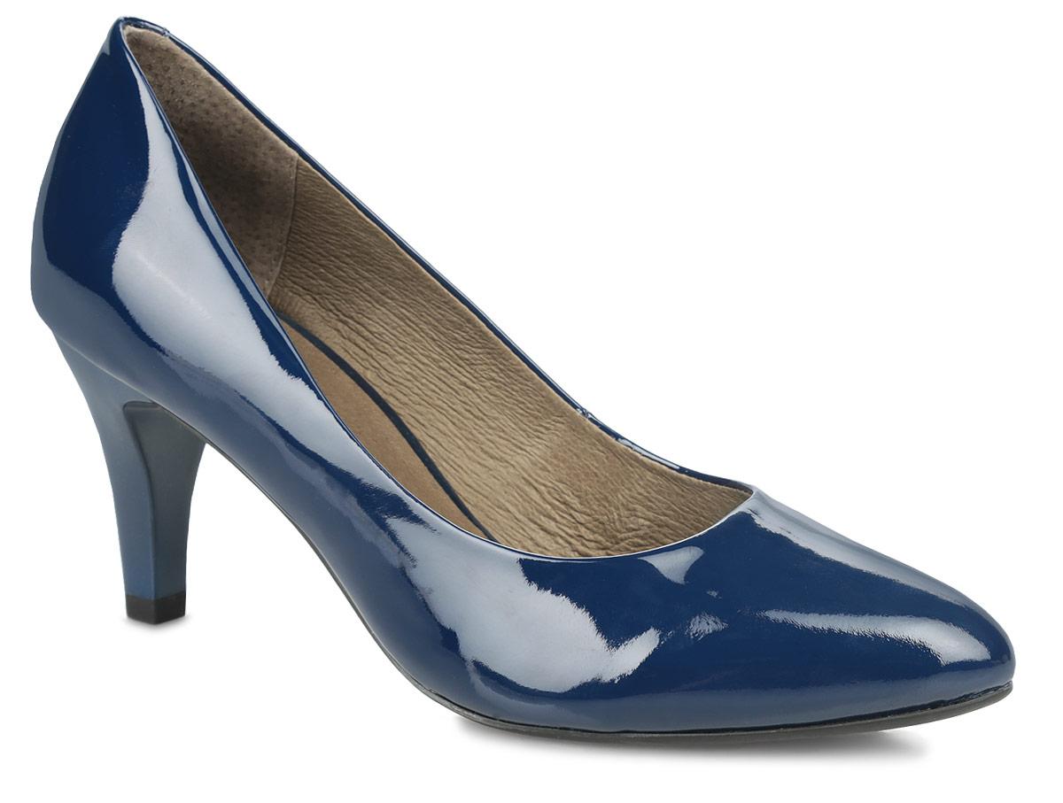 Туфли женские. 9-9-22411-259-9-22411-25-018Элегантные женские туфли от Сарriсе займут достойное место в вашем гардеробе. Модель выполнена из натуральной лакированной кожи и исполнена в лаконичном стиле. Зауженный носок добавит женственности в ваш образ. Подкладка и стелька из натуральной кожи позволят ногам дышать. Невысокий каблук устойчив. Подошва с рифлением в виде фирменного рисунка защищает изделие от скольжения. Изысканные туфли добавят шика в модный образ и подчеркнут ваш безупречный вкус.
