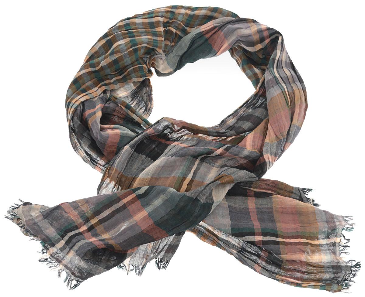 ШарфLB1207Потрясающий мужской шарф от Laura Biagiotti выполнен из 100% хлопка и украшен актуальным принтом в клетку тартан. Края модели оформлены коротенькой бахромой. Великолепный мужской шарф Laura Biagiotti сочетает в себе вечную классику и современные тренды.