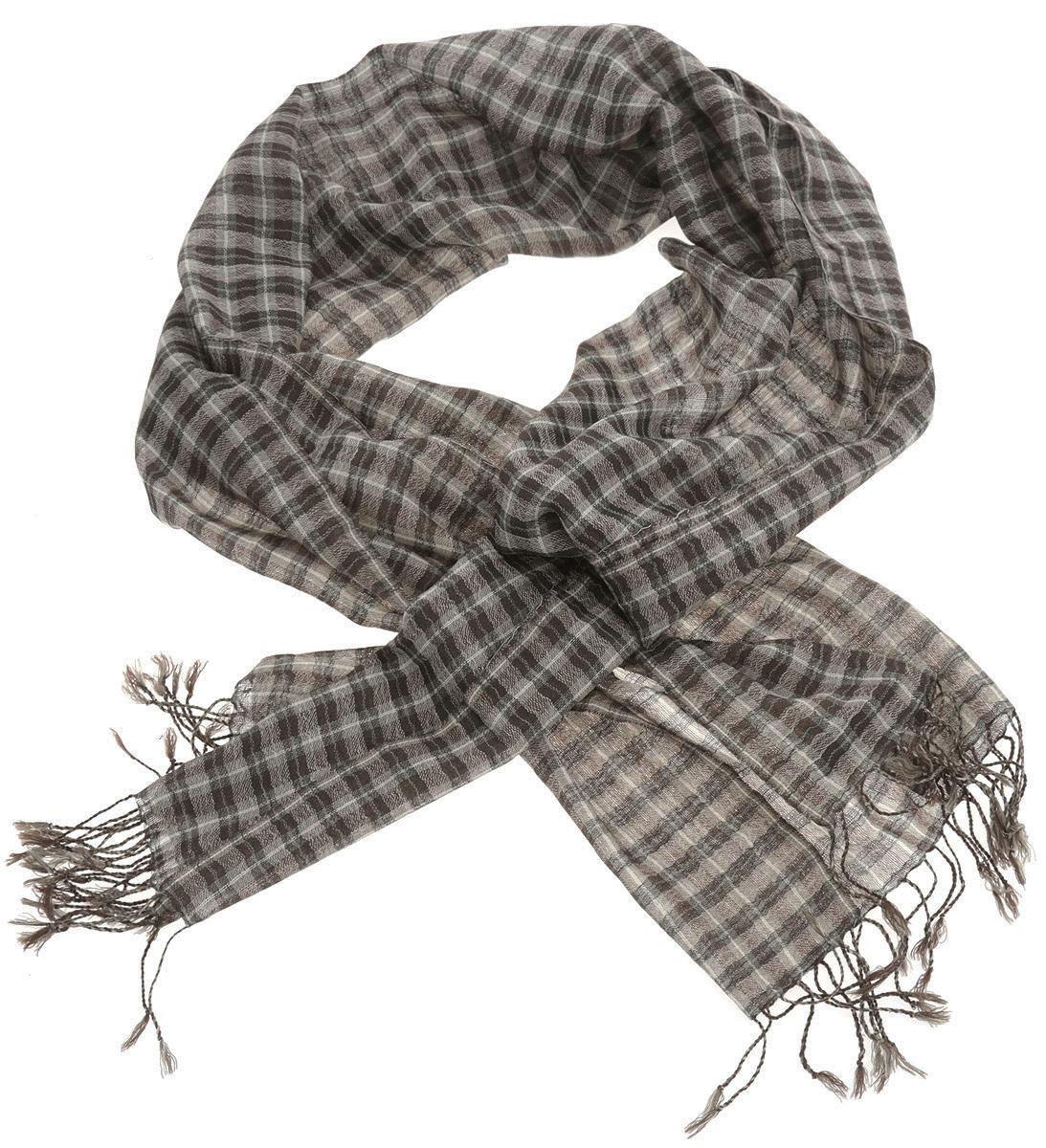 Шарф мужской. LMmanLMmanНеобычайно легкий мужской шарф Laura Milano выполнен из кашемира с добавлением модала, украшен актуальным принтом в клетку, согреет обладателя в непогоду. Края изделия оформлены кисточками. Великолепный мужской шарф Laura Milano сочетает в себе вечную классику и современные тренды.