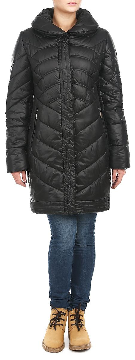 Куртка женская. AL-2643AL-2643Стильная женская куртка Grishko отлично подойдет для прохладной погоды. Модель приталенного силуэта с отложным воротником застегивается на застежку-молнию и дополнительно планкой на металлические кнопки. Куртка оформлена эффектной стежкой, создающей стройный силуэт за счет наклонных швов. Модель дополнена двумя прорезными карманами на застежке-молнии. Манжеты рукавов изделия дополнены текстильной резинкой, что препятствует проникновению холодного воздуха. Утеплитель выполнен из холлофайбера, который отличается повышенной теплоизоляцией, антибактериальными свойствами, долговечностью в использовании, и необычайно легок в носке и уходе. Изделия легко стираются в машинке, не теряя первоначального внешнего вида. Эта модная куртка послужит отличным дополнением к вашему гардеробу.