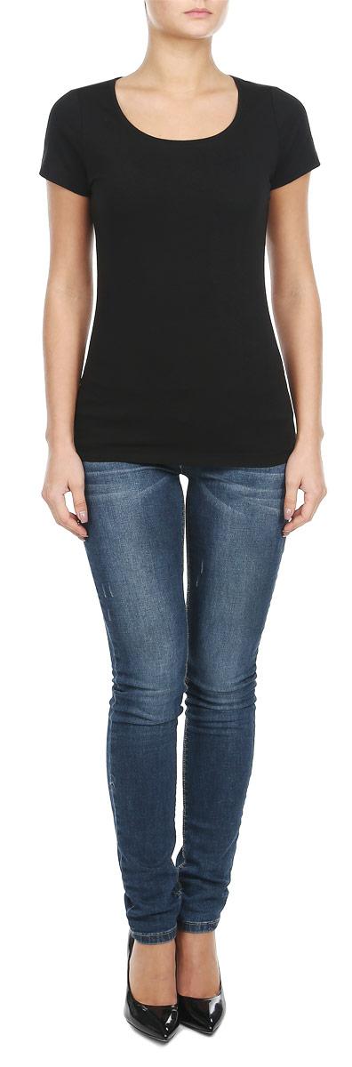 Футболка женская. 8010267480102674_697Стильная женская футболка Broadway, выполненная из эластичного хлопка, станет прекрасным дополнением к вашему гардеробу. Материал очень мягкий и приятный на ощупь, хорошо вентилируется. Футболка слегка приталенного кроя с короткими рукавами имеет круглый вырез горловины, дополненный трикотажной резинкой. Такая модель будет дарить вам комфорт в течение всего дня и послужит модным и практичным предметом гардероба.