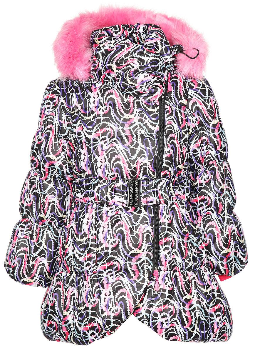 Куртка для девочки Злата. 1ПЛ15011ПЛ1501Куртка для девочки Oldos Злата идеально подойдет для маленькой модницы в холодное время года. Куртка выполнена из водонепроницаемой и ветрозащитной ткани на подкладке из полиэстера. Водо- и грязеотталкивающее покрытие повышает износостойкость модели, что обеспечит ей хороший внешний вид на всем протяжении носки. В качестве наполнителя используется холлофан - легкий антиаллергенный материал, который отлично сохраняет тепло, выводит излишнюю влагу, не впитывает запахи. Он долго сохраняет и быстро восстанавливает свой объем при длительной эксплуатации и многократных стирках. Удлиненная куртка с рукавами-фонариками и воротником-стойкой застегивается на пластиковую застежку- молнию и дополнительно имеет внутреннюю ветрозащитную планку. Необычный дизайн воротника надежно защитит горло от ветра и согреет, позволяя обходиться без шарфа. Капюшон, декорированный съемной опушкой из искусственного меха, пристегивается к куртке при помощи молнии. По краю он снабжен скрытой...