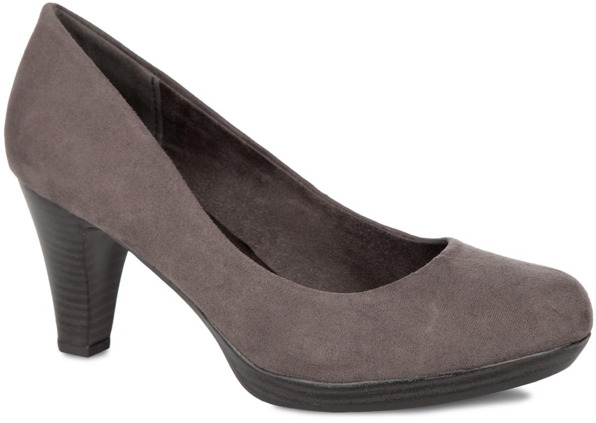 Туфли женские. 2-2-22411-352-2-22411-35-001Элегантные женские туфли от Marco Tozzi займут достойное место в вашем гардеробе. Модель выполнена из высококачественного текстиля и исполнена в лаконичном стиле. Закругленный носок добавит женственности в ваш образ. Мягкая стелька - из искусственной кожи и подкладка - из текстиля, обеспечивают максимальный комфорт при движении. Высокий каблук устойчив. Подошва с рифлением защищает изделие от скольжения. Изысканные туфли добавят шика в модный образ и подчеркнут ваш безупречный вкус.