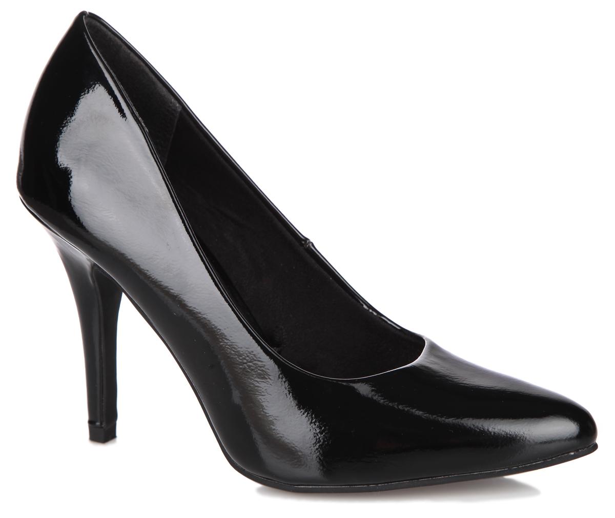 Туфли женские. 2-2-22418-25-0182-2-22418-25-018Элегантные женские туфли от Marco Tozzi займут достойное место в вашем гардеробе. Модель выполнена из искусственной кожи, покрытой лаком. Невероятно мягкая стелька - из искусственной кожи, обеспечивает максимальный комфорт при движении. Заостренный носок добавит женственности в ваш образ. Высокий каблук устойчив. Подошва с рифлением защищает изделие от скольжения. Изысканные туфли добавят шика в модный образ и подчеркнут ваш безупречный вкус.