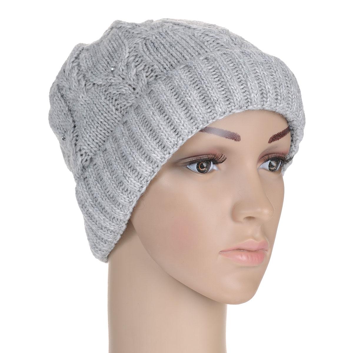 Шапка7104S_11 GMСтильная женская шапка Flioraj отлично дополнит ваш образ в холодную погоду. Сочетание шерсти и акрила максимально сохраняет тепло и обеспечивает удобную посадку, невероятную легкость и мягкость. Модель оформлена крупной фигурной вязкой и стразами. Понизу шапка связана крупной резинкой и дополнена отворотом. Привлекательная стильная шапка Flioraj подчеркнет ваш неповторимый стиль и индивидуальность.