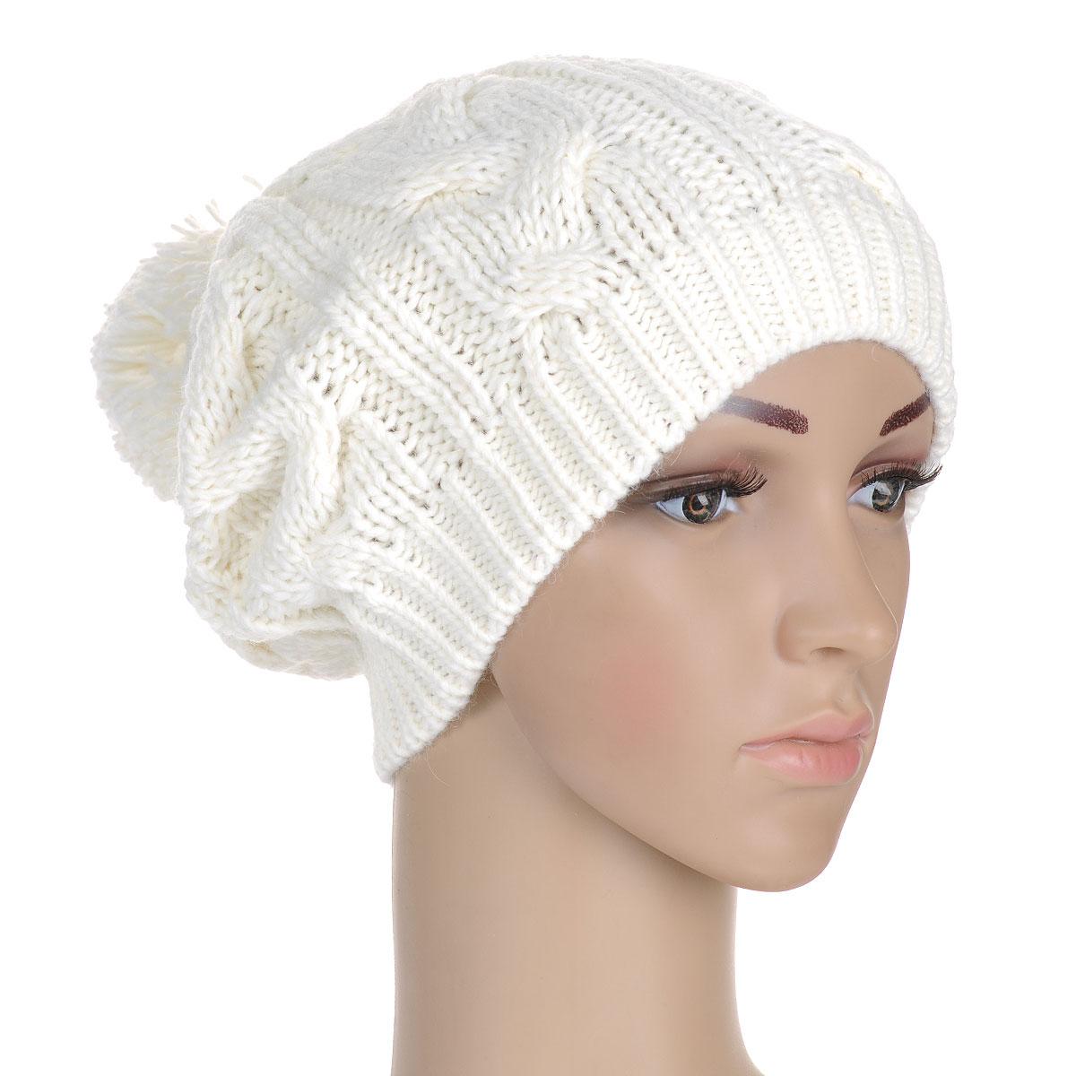Шапка7112S_11 GMСтильная женская шапка Flioraj - теплая удлиненная модель для холодной погоды. Сочетание различных материалов обеспечивает сохранение тепла и удобную посадку. Модель отлично тянется. Шапка оформлена крупной фигурной вязкой и декорирована внушительным помпоном. Низ шапки связан резинкой, что обеспечивает эластичность и удобную посадку. Flioraj - комфортная защита от холода.