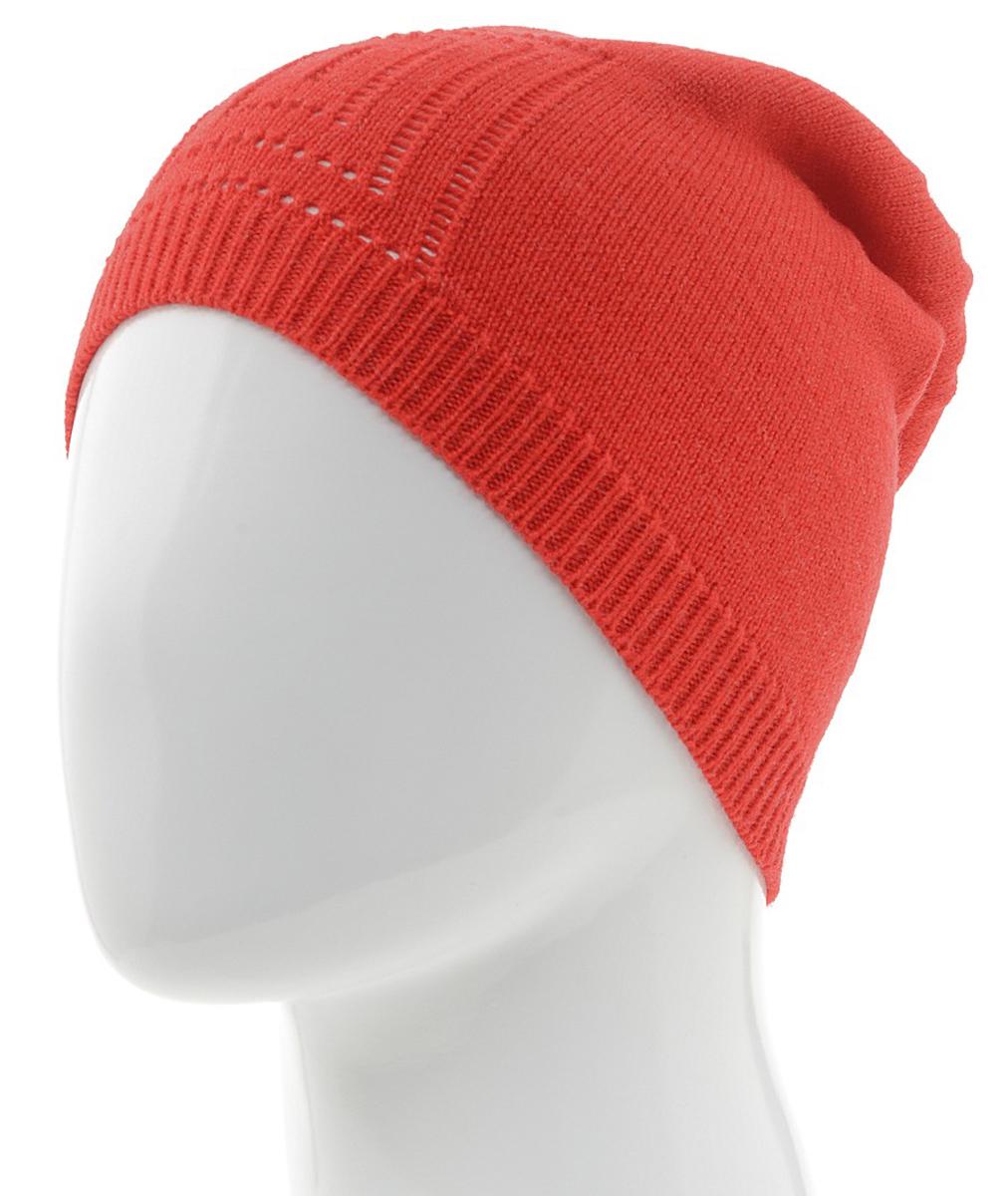 Шапка женская. 7302PI7302PI-18Шапочка-бини Flioraj гармонична со стремлением быть свободной, творческой и энергичной. Выполнена из тонкой мягкой полушерсти, декорирована вывязанным лаконичным узором. Низ шапки связан резинкой, что обеспечивает эластичность и удобную посадку. Такая шапка станет модным и стильным дополнением вашего зимнего гардероба. Она согреет вас и позволит подчеркнуть свою индивидуальность!