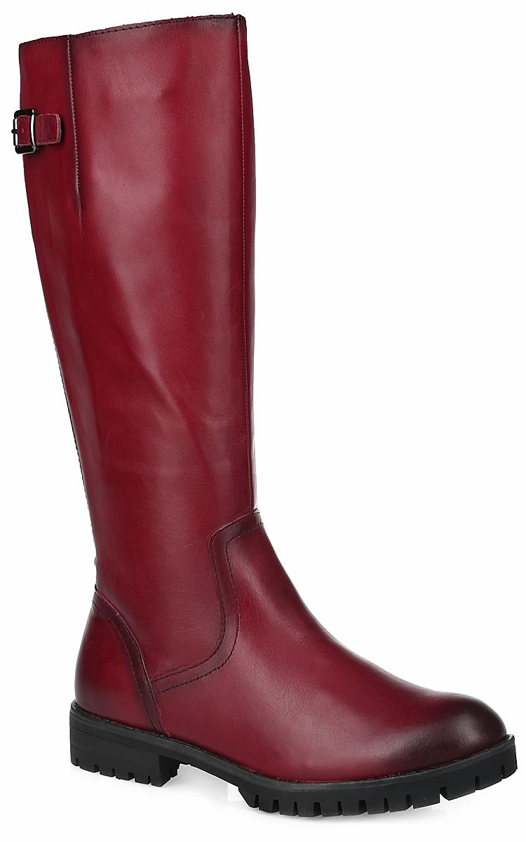 Сапоги женские. 1-1-25602-251-1-25602-25-001Стильные женские сапоги от Tamaris покорят вас с первого взгляда. Модель выполнена из мягкой натуральной кожи и дополнена кожаным ремешком с металлической пряжкой на голенище. Стрейчевая вставка, расположенная на голенище, обеспечивает оптимальную посадку модели на ноге. Сапоги застегиваются на боковую застежку-молнию. Подкладка и стелька из текстиля комфортны при ходьбе. Каблук и подошва с агрессивным протектором защищают изделие от скольжения. Элегантные сапоги подчеркнут ваш стиль и яркую индивидуальность. В них вы всегда будете чувствовать себя уютно и комфортно!