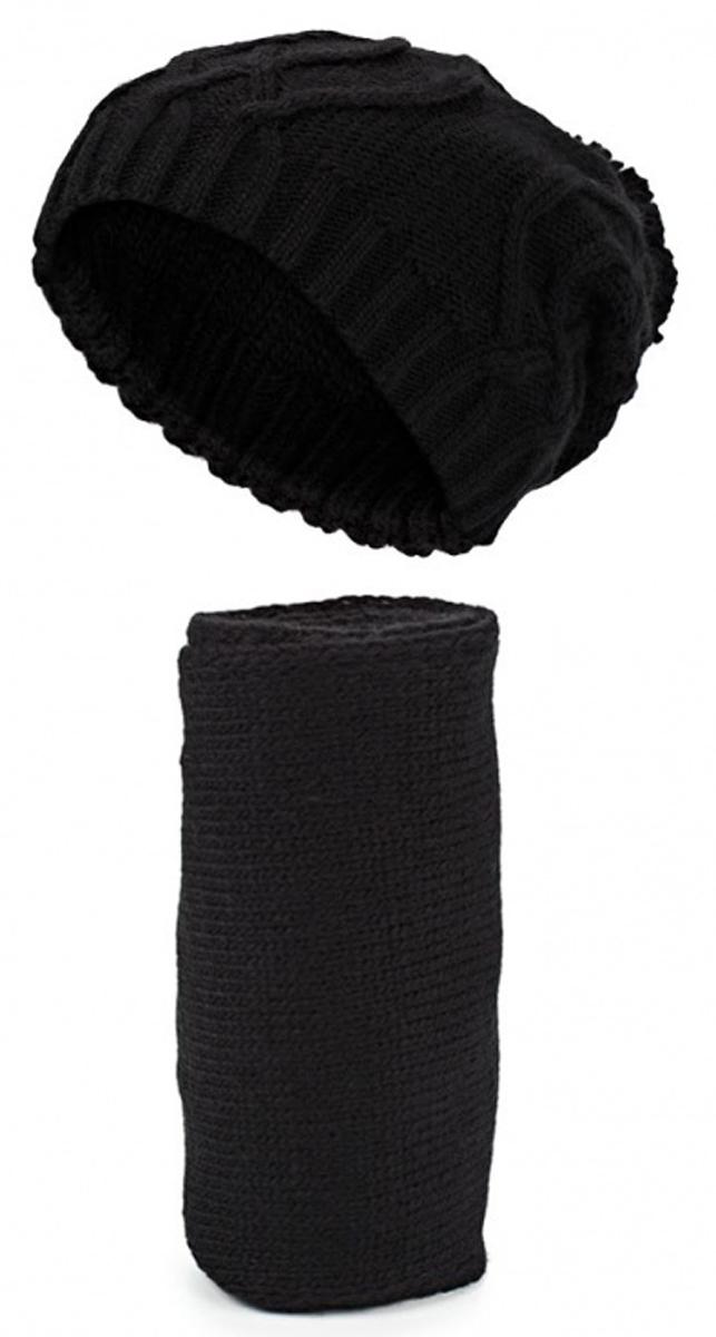 Комплект: шапка, шарф. 2/7125S2/7125S-11Стильный комплект из шапки и шарфа Flioraj - великолепное решение для холодной погоды. Шарф и шапка выполнены из высококачественной акриловой пряжи с добавлением шерсти, что позволяет им великолепно сохранять тепло, а также обеспечивает высокую износостойкость. Низ шапки связан резинкой. Шапка и шарф оформлены задорными помпонами. Такой комплект станет модным и стильным дополнением вашего зимнего гардероба. Он согреет вас и позволит вам подчеркнуть свою индивидуальность!