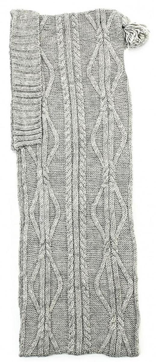 7120S-22Ультрамодный капюшон с кисточкой 2в1, является капюшоном и шарфом одновременно, выполнен крупными модными аранами.