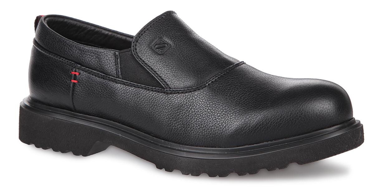 SM3281_02_01_BLACKКлассические женские туфли от Spur - идеальный вариант на каждый день. Модель изготовлена из натуральной кожи и дополнена фактурными швами по верху. Подкладка и стелька - из натуральной кожи, обеспечивают максимальный комфорт при движении и позволяют ногам дышать. По бокам изделие дополнено эластичными вставками. Подъем декорирован тиснением в виде логотипа бренда. Задник - дополнен ярлычком для более удобного надевания обуви. Подошва из резины с рельефным протектором обеспечивает отличное сцепление на любой поверхности. В таких туфлях вашим ногам будет уютно и комфортно! Они прекрасно дополнят ваш повседневный образ.