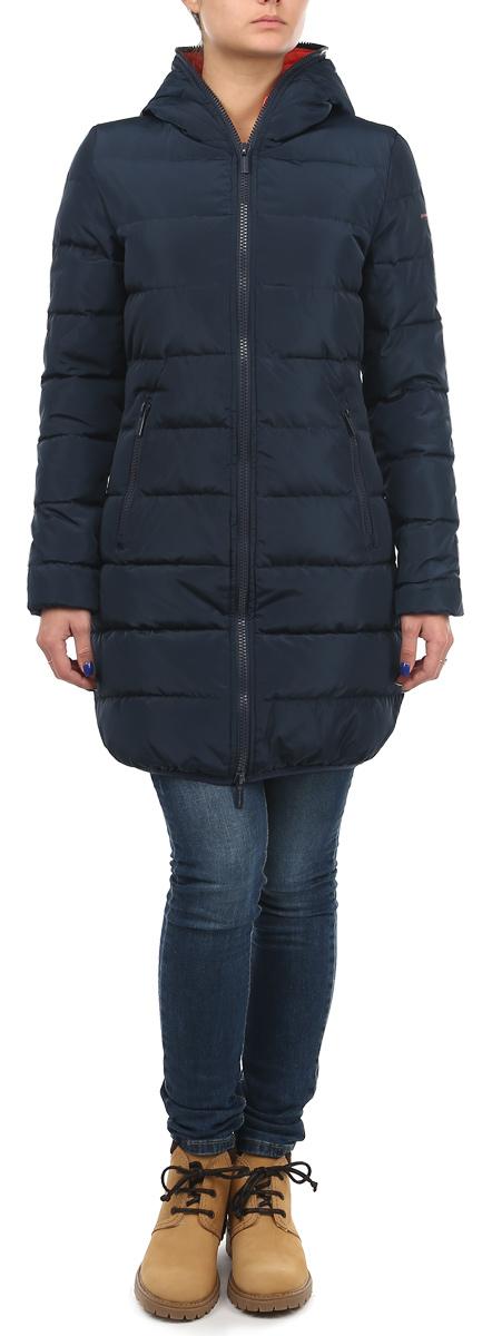 10131049 540Стильная удлиненная женская куртка Broadway согреет вас в прохладное время года. Модель с длинными рукавами и капюшоном имеет наполнитель из натурального пуха и пера, который обеспечивает надежное сохранение тепла. Такая куртка не позволит вам замерзнуть даже в морозные дни. Модель застегивается на двустороннюю застежку-молнию, которая продолжается по краю капюшона. Куртка дополнена двумя втачными карманами на молниях спереди и одним внутренним карманом на липучке. Рукава и низ куртки оснащены эластичными манжетами. На талии куртка стягивается при помощи шнурка-кулиски. Эта яркая и в то же время комфортная куртка - отличный вариант для прогулок, она подчеркнет ваш изысканный вкус и поможет создать неповторимый образ.