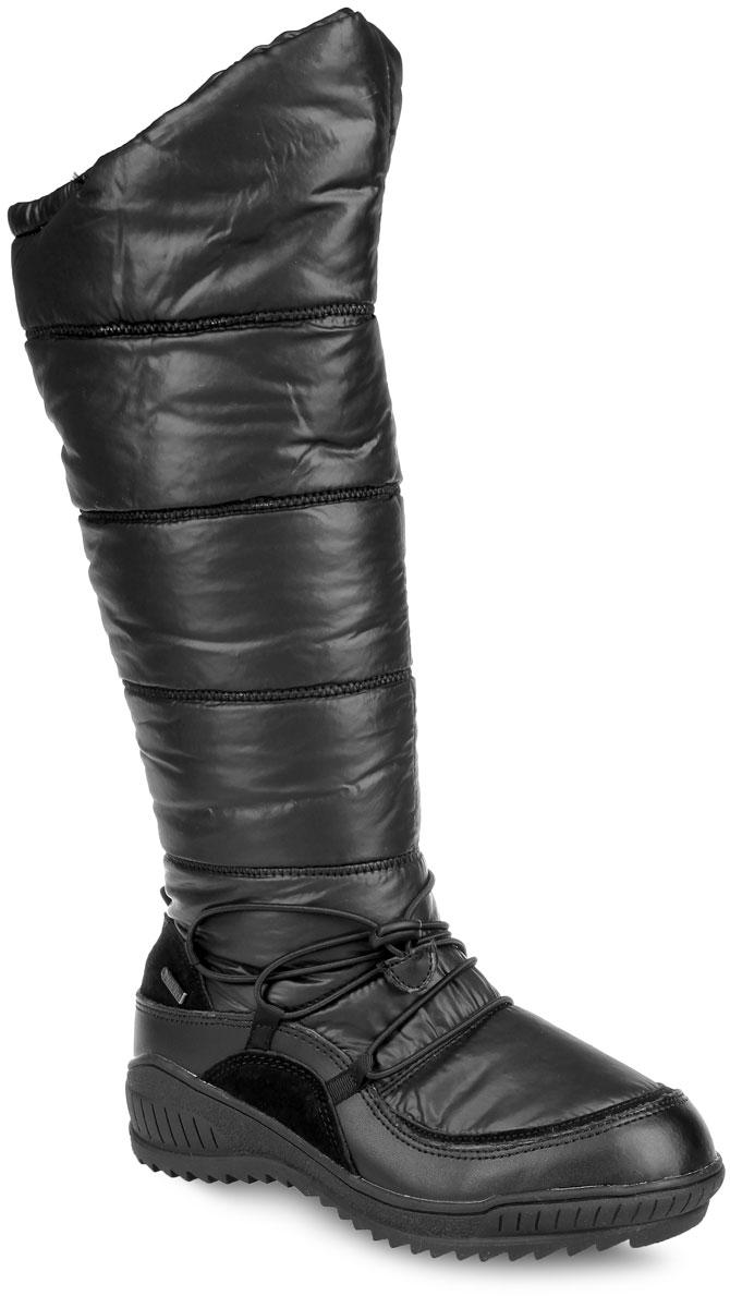 Дутики женские. 43-KM-0643-KM-06 AQQОригинальные женские дутики от Wilmar выполнены из текстиля со вставками из искусственной замши и искусственной кожи. Подкладка из натуральной шерсти позволяет сохранить ваши ноги в тепле. Стелька из текстиля обеспечивает комфорт и уют. Подошва с рельефным протектором препятствует скольжению. Застегивается модель на застежку-молнию, расположенную на одной из боковых сторон. Изделие дополнено эластичными шнурком с фиксатором. Дутики очень практичны, удобны и функциональны. В них вам будет тепло и комфортно.