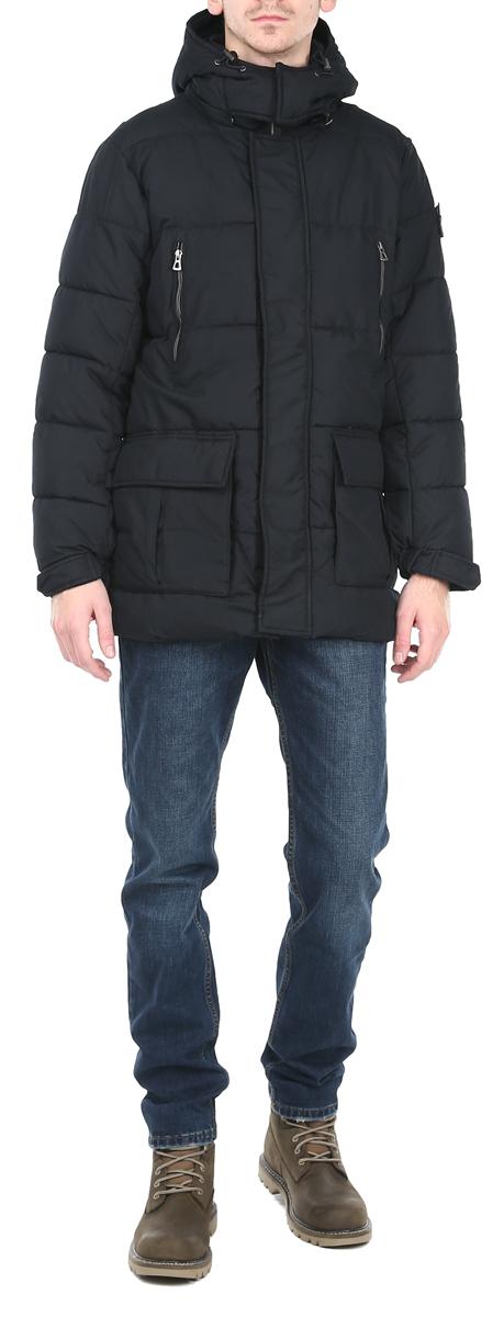Куртка мужская. 1015308410153084_999Стильная утепленная мужская куртка Broadway подтвердит ваш статус модного и эффектного мужчины. Куртка с воротником-стойкой застегивается на застежку-молнию и имеет ветрозащитный клапан на кнопках. Капюшон съемный, крепится при помощи застежки-молнии, оснащен кнопками. По бокам расположены 2 объемных накладных кармана с клапанами на кнопках, 2 потайных кармашка, на груди - 2 прорезных кармана на застежке-молнии. Внутри - врезной кармашек на липучке. На рукаве - отстегивающийся логотип бренда. Манжеты с эластичными резинками регулируются хлястиками на кнопках. Такая куртка обеспечит вам не только красивый внешний вид и комфорт, но и отличную защиту от холода и ветра.