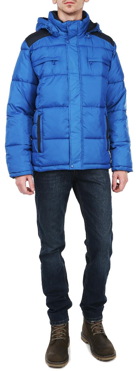 Куртка мужская. Cp-226/233Cp-226/233-5363Стильная мужская модель Sela - надежная водонепроницаемая куртка для активного отдыха. Модель с отстегивающимся капюшоном со скрытой застежкой-молнией. Куртка застегивается на застежку-молнию и дополнительно ветрозащитным клапаном на металлические кнопки. Рукава оснащены эластичными резинками. Внешняя сторона куртки оформлена 4 врезными карманами на застежке-молнии, внутренняя - 2 небольшим карманом на застежке-молнии. Идеальный вариант для тех, кто ценит комфорт и качество.