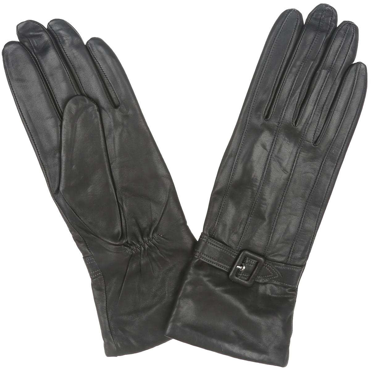 ПерчаткиIS5083Классические женские перчатки Eleganzza - первая необходимость в осенне- зимний период. Перчатки выполнены из необыкновенно мягкой и приятной на ощупь натуральной кожи, а их подкладка - из натуральной шерсти с добавлением кашемира. Лицевая сторона оформлена декоративным ремешком и оригинальной прострочкой в тон изделия. Тыльная сторона дополнена резинкой для оптимальной посадки модели на руке. Потрясающие женские перчатки Eleganzza подойдут романтичным особам с тонким вкусом. Но самое главное - они защитят руки от холода и ветра, сохраняя их красоту.