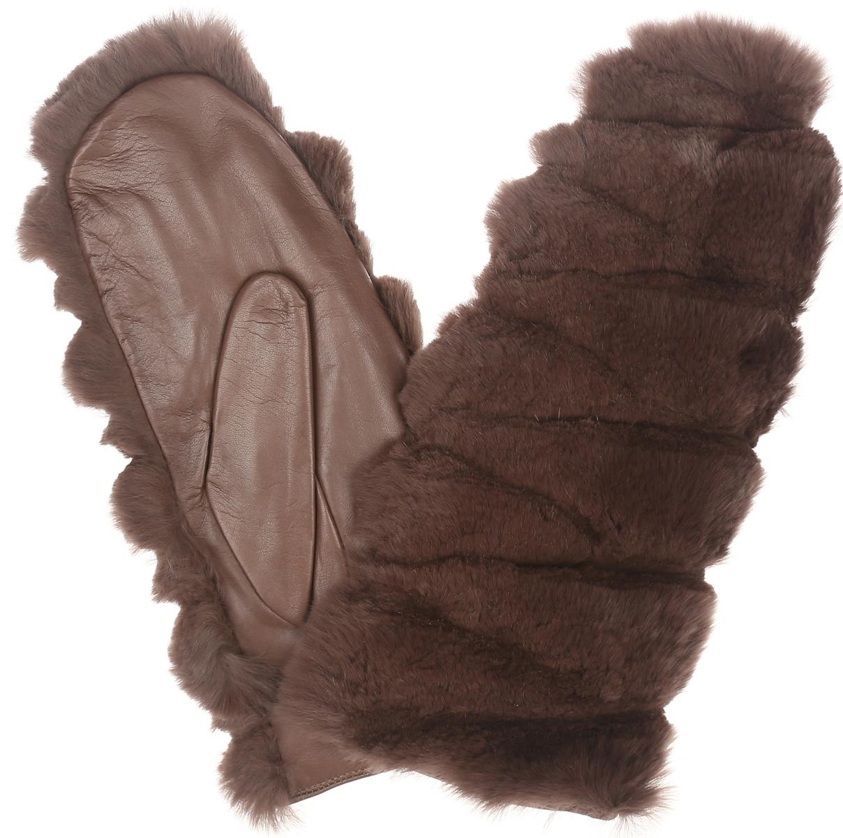 ВарежкиIS09800Потрясающие женские варежки Eleganzza - первая необходимость в осенне-зимний период. Лицевая сторона изготовлена из необыкновенно мягкого и приятного на ощупь натурального меха - орилаг, тыльная сторона - из натуральной кожи, подкладка из натуральной шерсти с добавлением кашемира выполнена в виде перчатки. Мех декоративно выстрижен. Прекрасные женские варежки Eleganzza подойдут романтичным особам с тонким вкусом. Но самое главное - они защитят руки от холода и ветра, сохраняя их красоту.