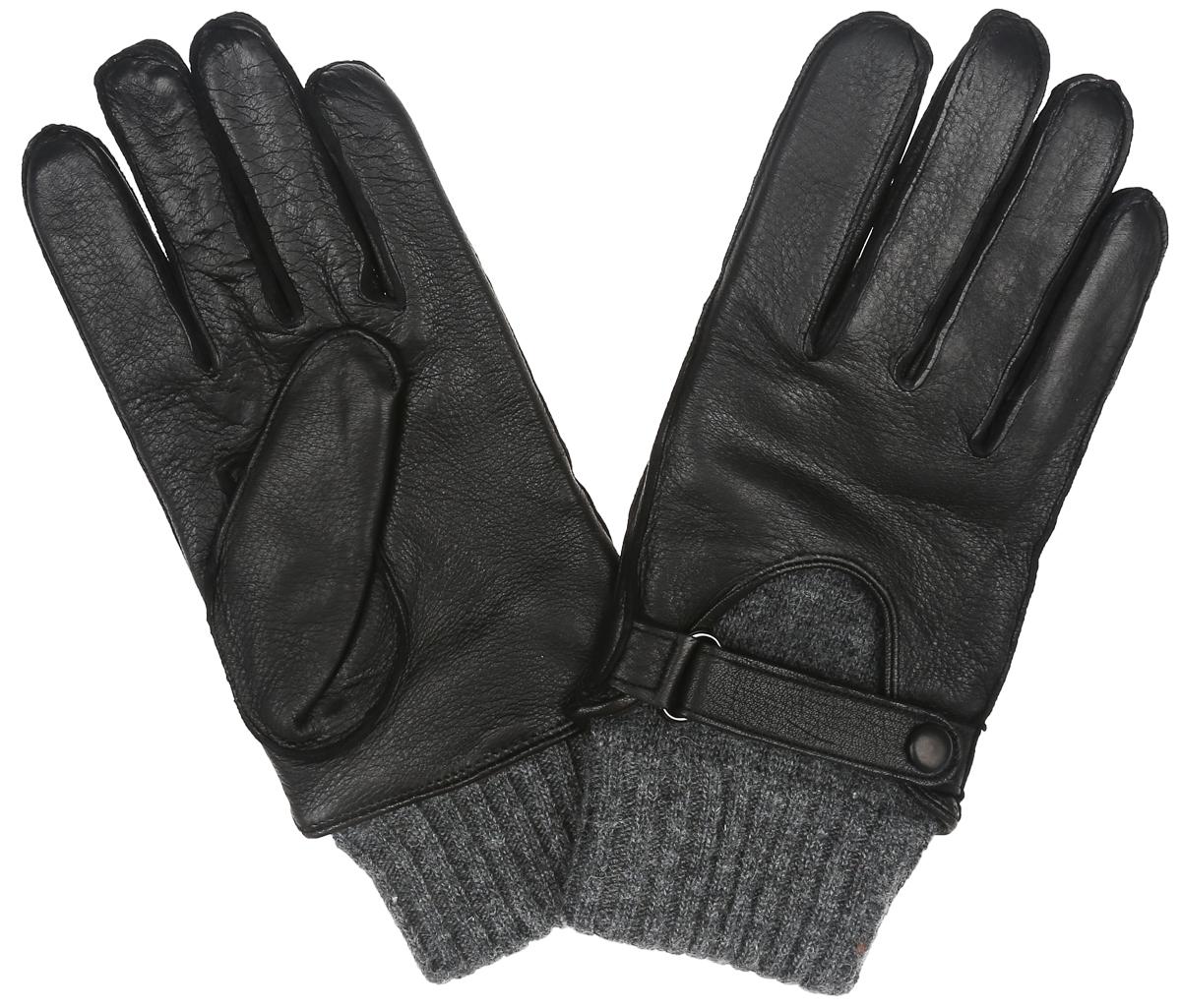 Перчатки мужские. OS455OS455Стильные мужские перчатки Eleganzza выполнены из чрезвычайно мягкой и приятной на ощупь натуральной кожи, а их подкладка - из натуральной шерсти. С лицевой стороны модель оформлена декоративным ремешком на застежке-кнопке. Шерстяные манжеты облегают запястье. В настоящее время перчатки являются неотъемлемой принадлежностью одежды. Перчатки станут завершающим и подчеркивающим элементом вашего стиля и неповторимости.