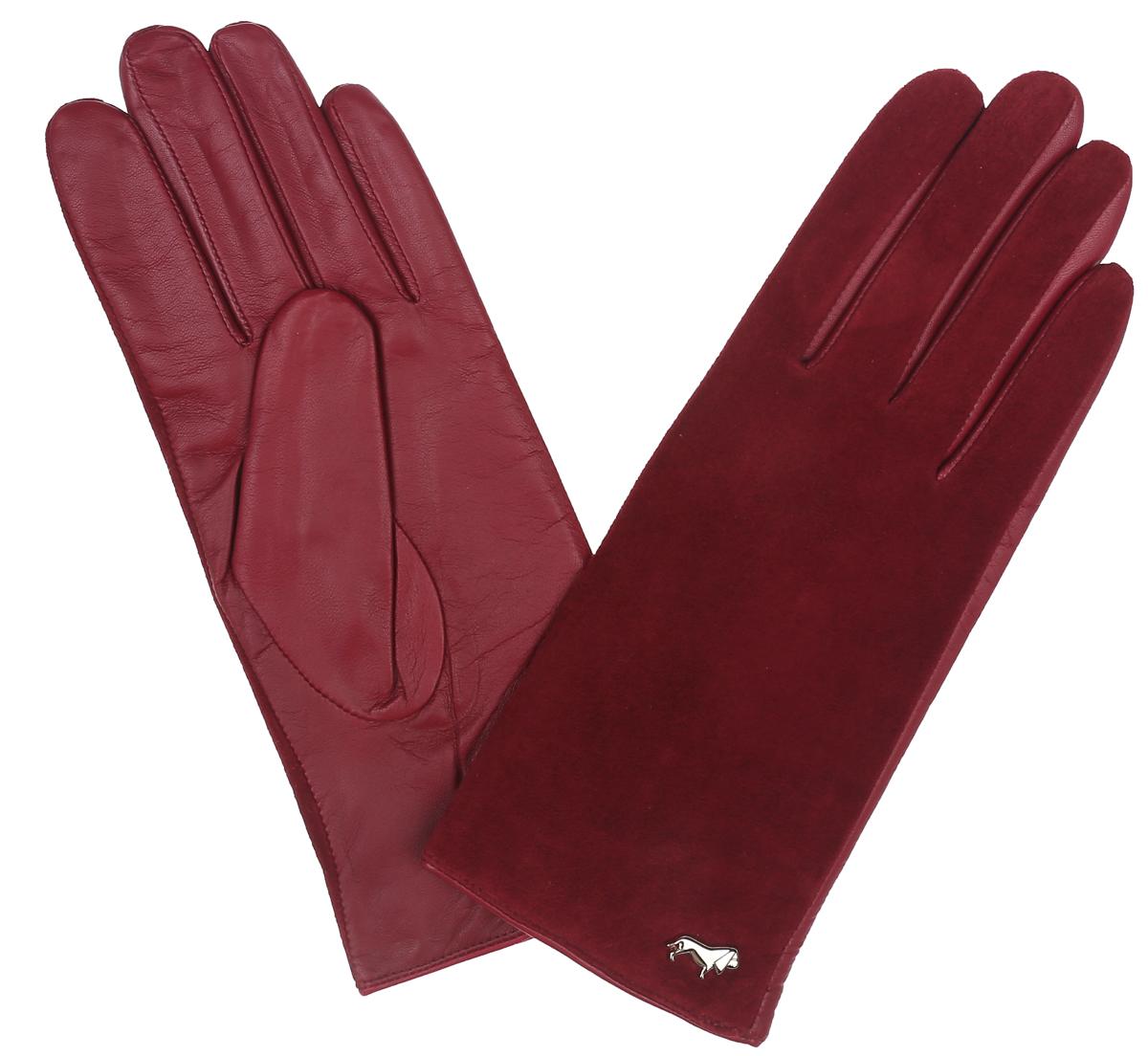 ПерчаткиLB-4707Классические женские перчатки Labbra не только защитят ваши руки, но и станут великолепным украшением. Тыльная сторона перчаток выполнена из замши, а на ладошках - из чрезвычайно мягкой и приятной на ощупь натуральной кожи ягненка, а их подкладка - из натуральной шерсти с добавлением акрила. Внешняя сторона оформлена фирменным логотипом в виде собачки. Качественная отделка кожи ягненка делает эту модель не только красивой, но и долговечной. В настоящее время перчатки являются неотъемлемой принадлежностью одежды, вместе с этим аксессуаром вы обретаете женственность и элегантность. Перчатки станут завершающим и подчеркивающим элементом вашего стиля и неповторимости.