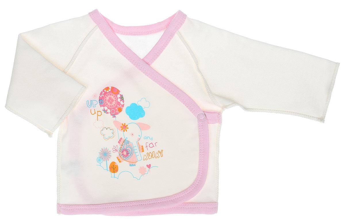3457Распашонка-кимоно для девочки КотМарКот Слоник на качелях послужит идеальным дополнением к гардеробу вашей малышки, обеспечивая ей наибольший комфорт. Распашонка, выполненная швами наружу, изготовлена из натурального хлопка - интерлока, благодаря чему она необычайно мягкая и легкая, не раздражает нежную кожу ребенка и хорошо вентилируется, а эластичные швы приятны телу младенца и не препятствуют его движениям. Распашонка-кимоно с длинными рукавами-реглан оформлена ненавязчивым принтом с изображением слоника с шариком. Благодаря системе застежек-кнопок по принципу кимоно модель можно полностью расстегнуть. Распашонка полностью соответствует особенностям жизни ребенка в ранний период, не стесняя и не ограничивая его в движениях. В ней ваша дочурка всегда будет в центре внимания.