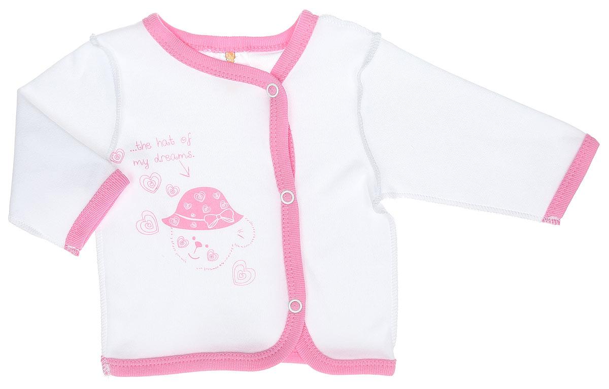 3775Кофточка КотМарКот Мишка в шляпе послужит идеальным дополнением к гардеробу вашего ребенка. Кофточка с длинными рукавами и V-образным вырезом горловины изготовлена из натурального хлопка - интерлока, благодаря чему она необычайно мягкая и легкая, не раздражает нежную кожу ребенка и хорошо вентилируется, а эластичные швы приятны телу младенца и не препятствуют его движениям. Удобные застежки-кнопки по всей длине помогают легко переодеть ребенка. Спереди изделие оформлено принтом с изображением медвежонка, а также принтовой надписью на английском языке. Кофточка полностью соответствует особенностям жизни ребенка в ранний период, не стесняя и не ограничивая его в движениях. В ней ваш младенец всегда будет в центре внимания.